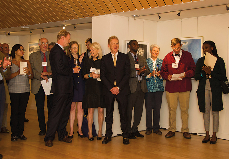 Nearly 100 alumni and friends of St. Paul's School attended the opening of the new gallery.