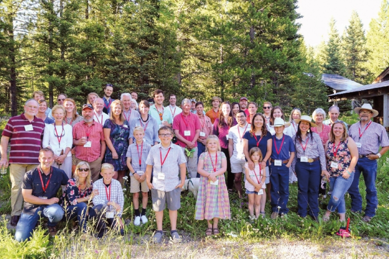 Paulies and friends of the School gathered at the Jack Creek Preserve on July 13.
