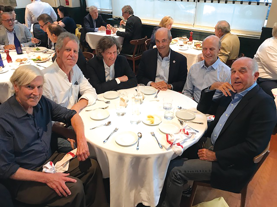 Formmates from 1967 in New York City, (l. to r.): George Pillsbury, Peter Wheelwright, Gus Oliver, Scott Muller, Scott Phillips, and Tony Kiser.