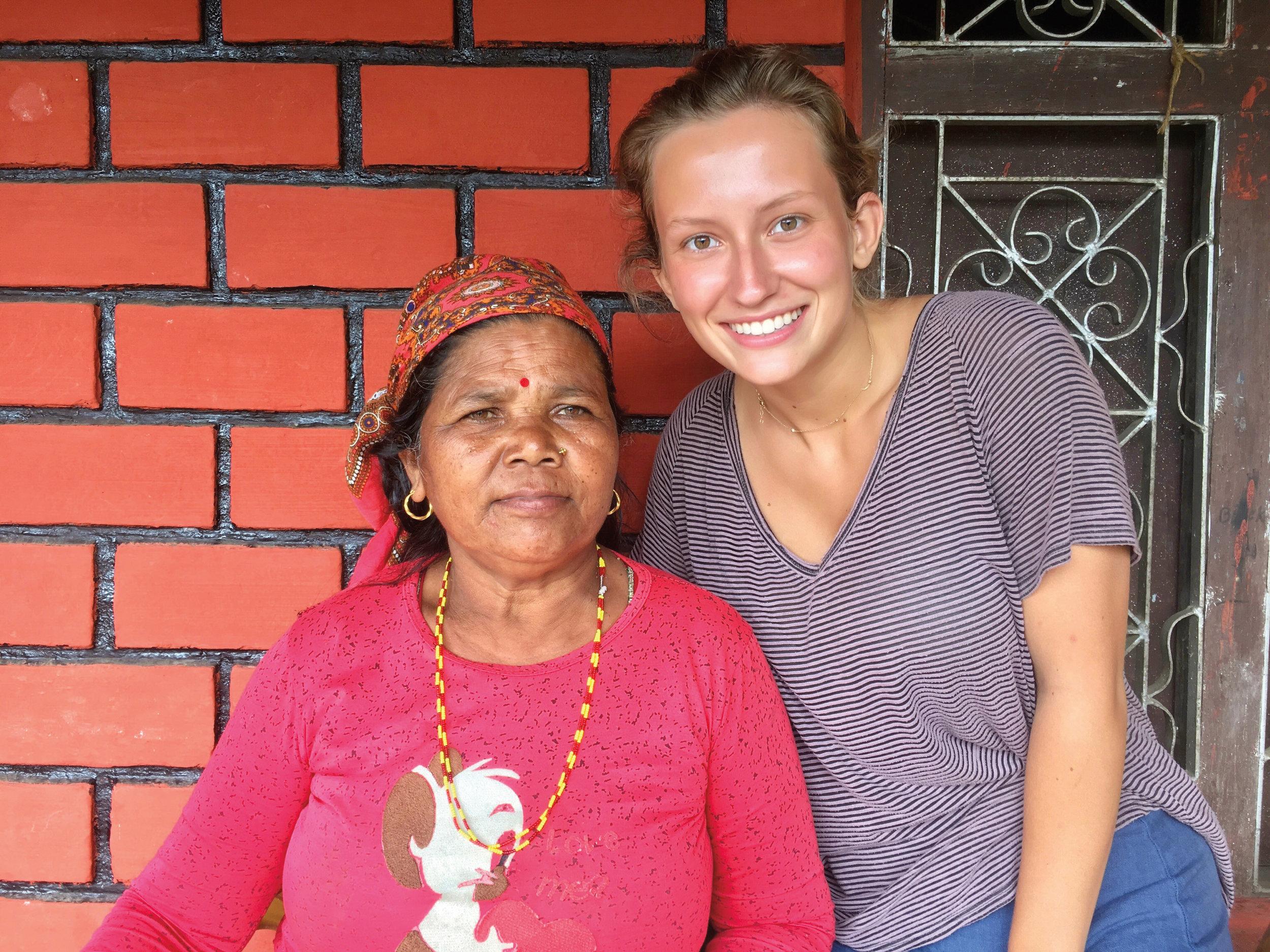 Mary Eliot Stone '17 in Nepal.