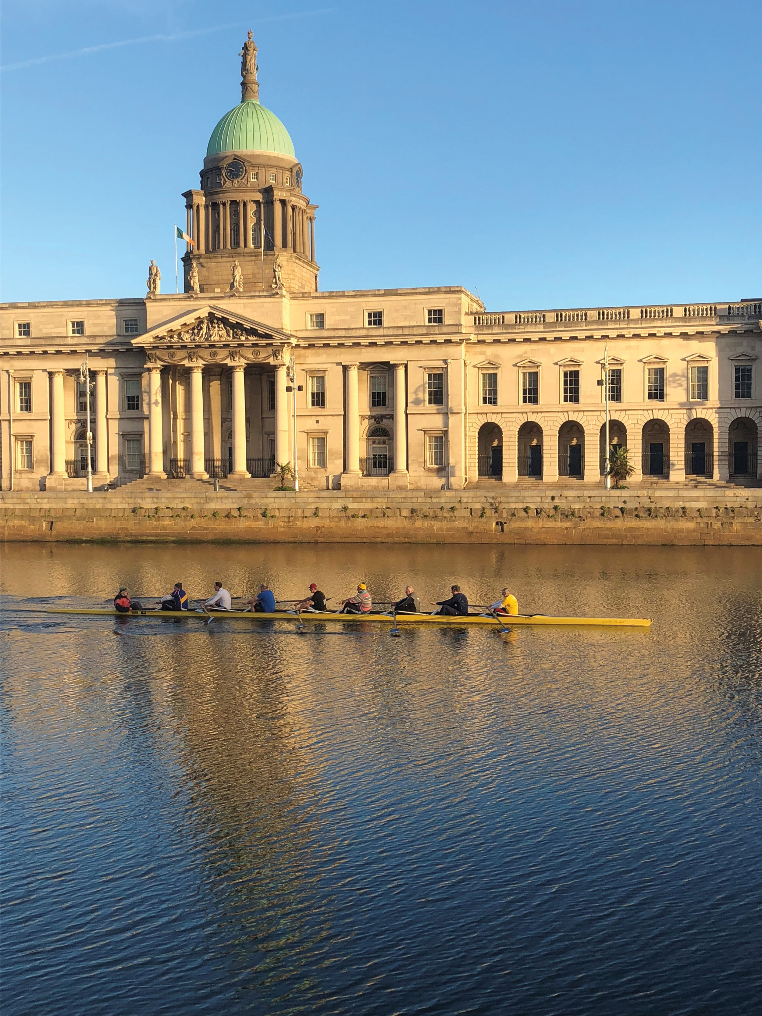 Steve Wilmer '64 (in the two seat) rowing in Dublin.