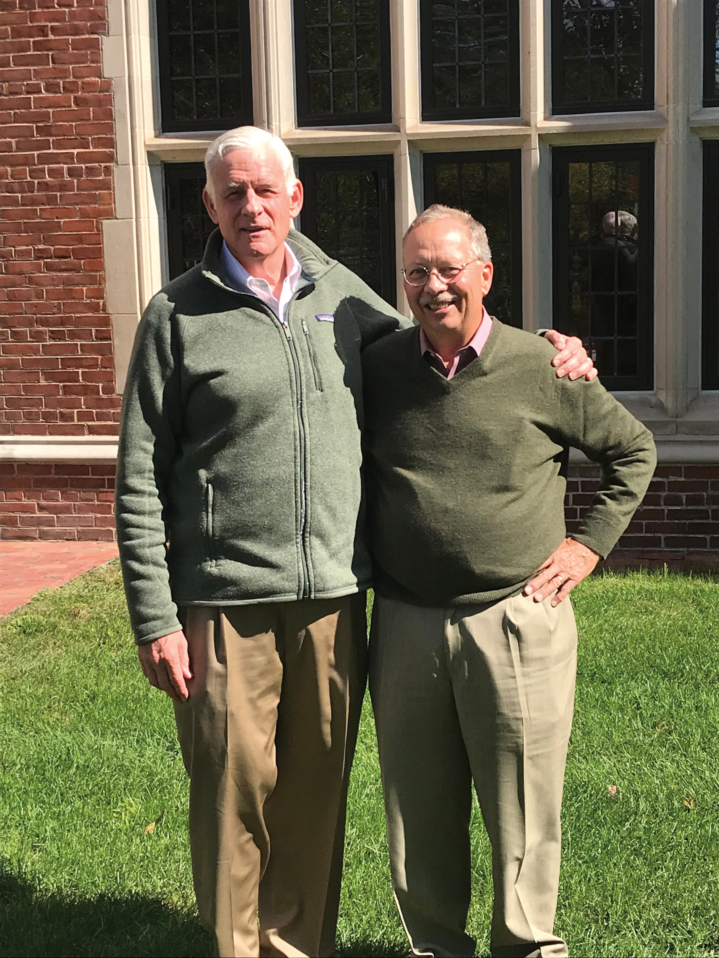 Formmates Richard Woodville '66 (l.) and Hugh Clark at SPS in Action weekend.