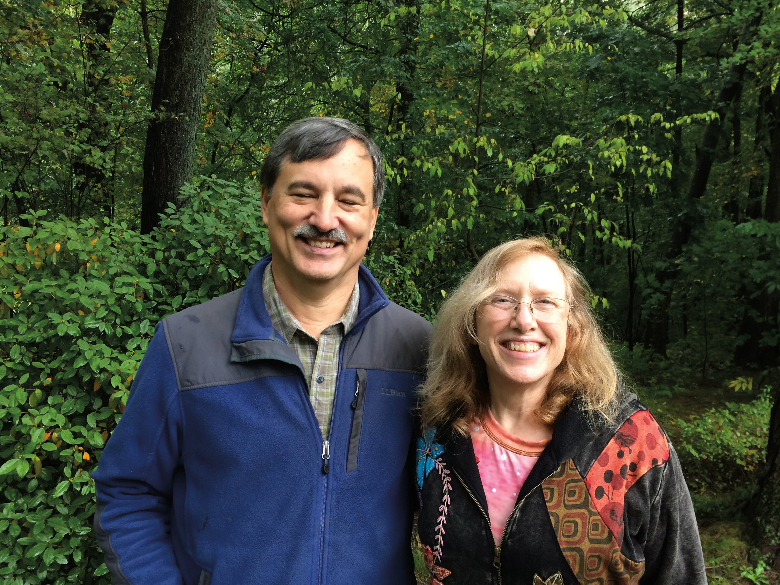 Cathy Gallagher '77 stopped to see formmate Jon Panek during her cross-country road trip.