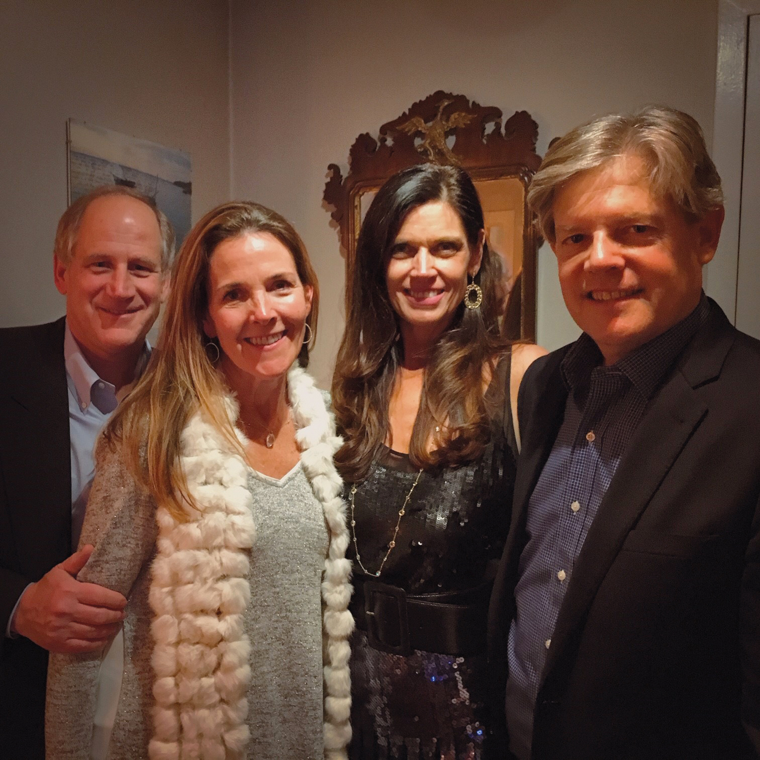Jon '78 and Tiffany Sweet enjoying an evening out with Melissa and Thor Thors '78.