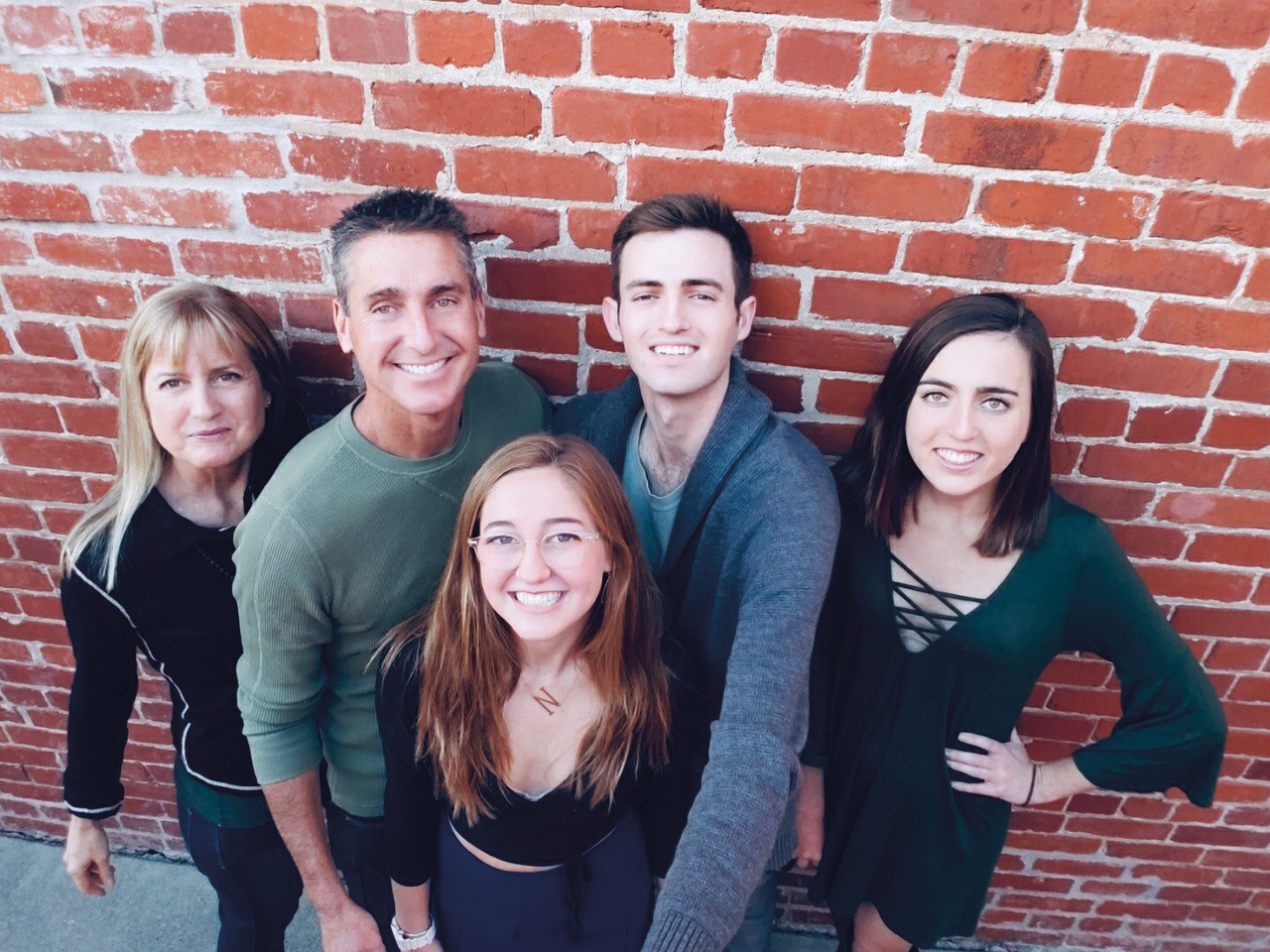 Lorna Mack Sheridan '83 with her husband, Barry, their son, and two daughters.