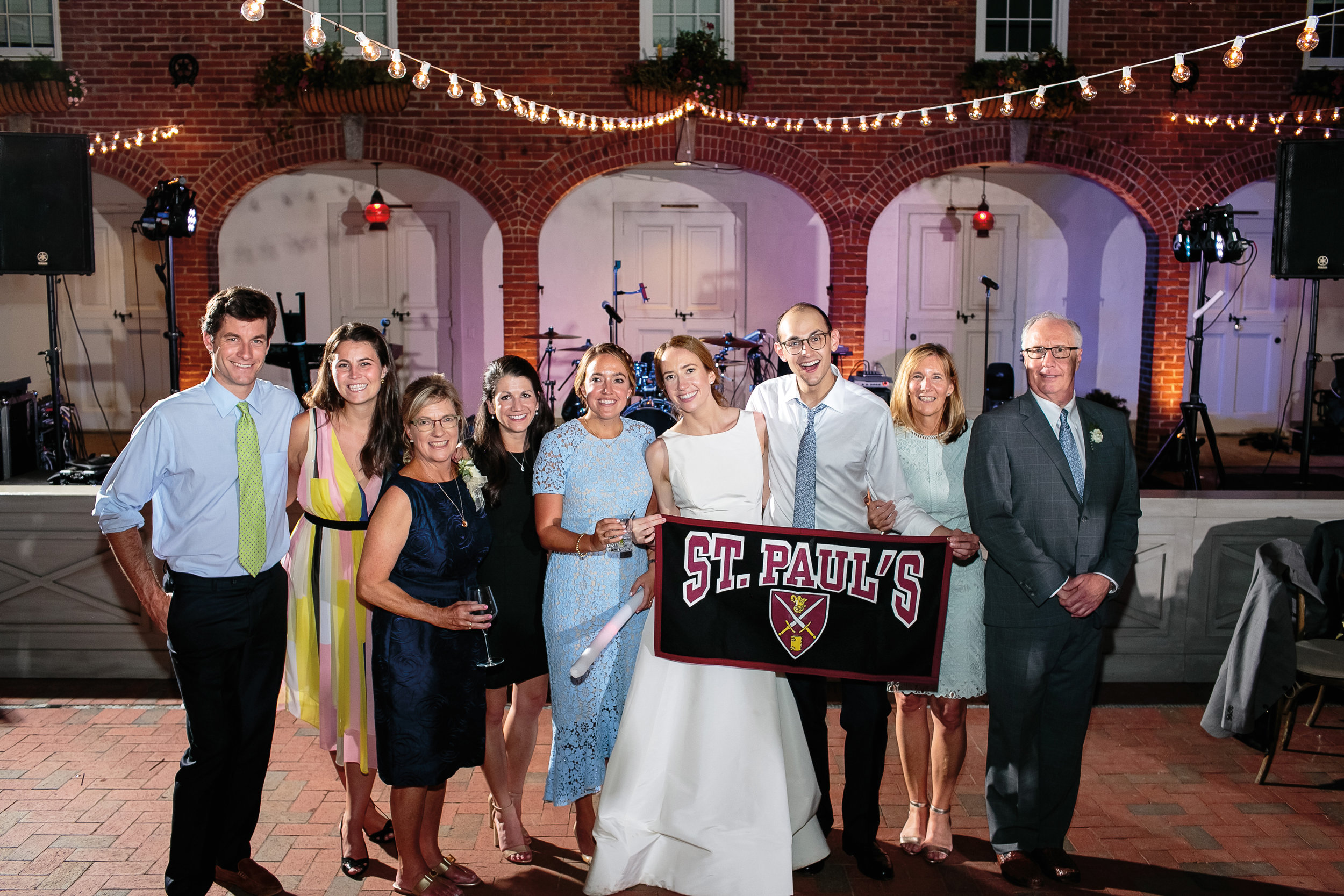 Kaye Verville '07 married Edward Gottfriend in Knoxville, Tenn., in September. Paulies included (l. to r.): Nolan Jennings '07, Carrie Read '07, Sarah Lee (Addington) Verville '74, Morgan (Nelson) Shaughnessy '07, Charlotte Hickey '07, the bride and groom, Margo (Addington) Urey '80, and Mike Verville '74.