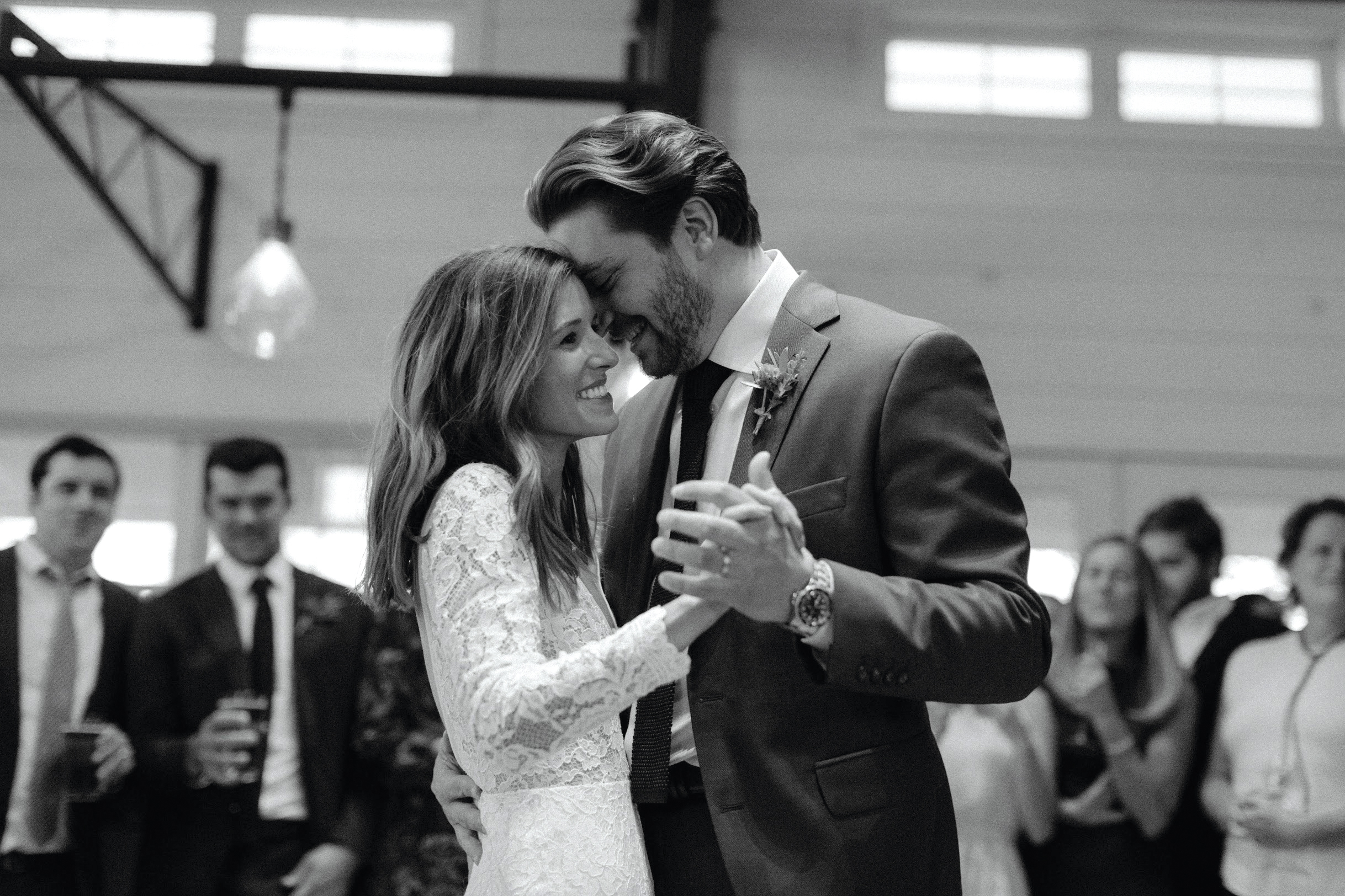 Gaby Ransom '10 dances with her husband, Willi Rose, at their October 2018 wedding.