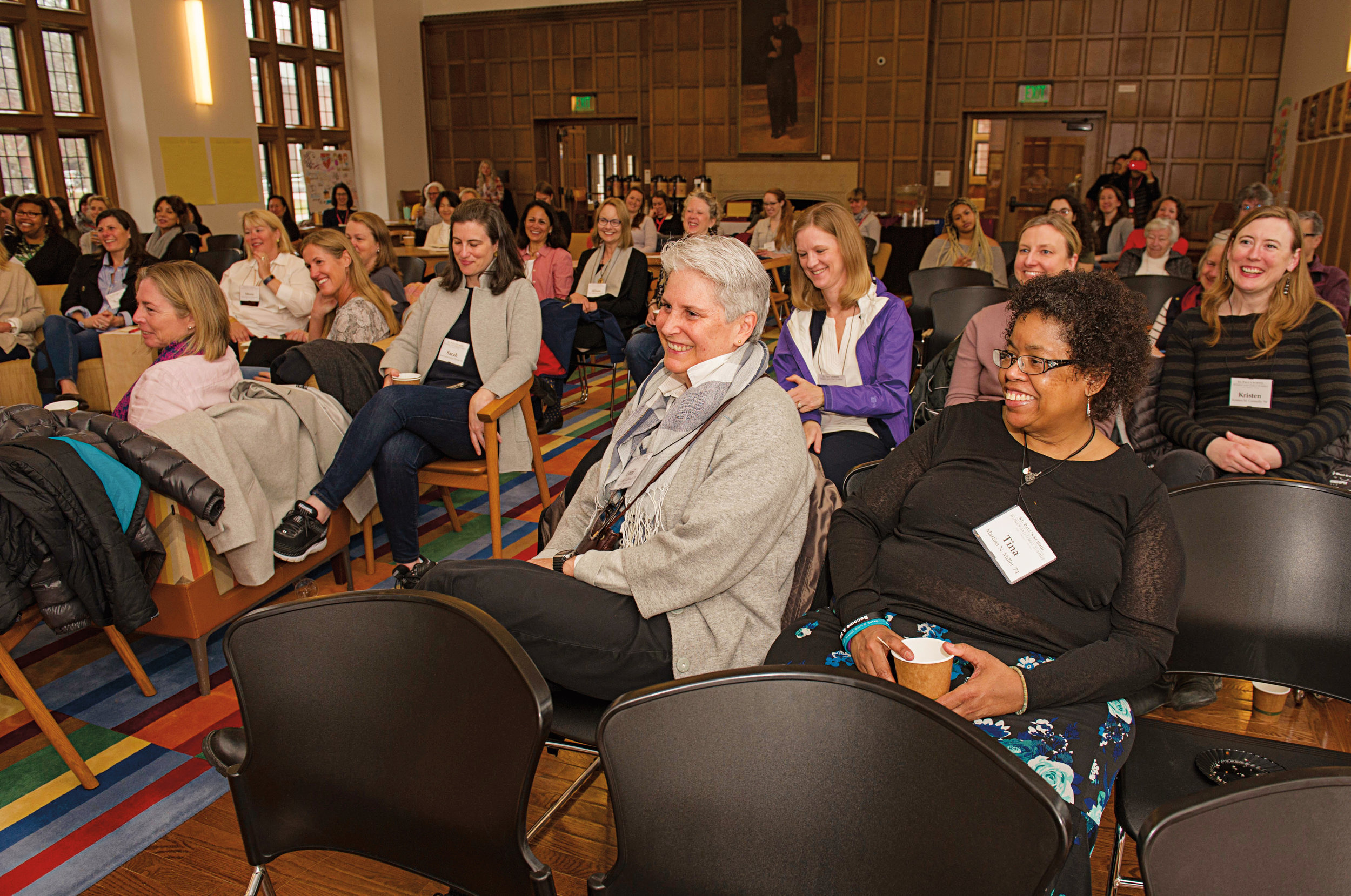 Current and former female faculty joined alumnae and current SPS girls for a day of panels and discussions.