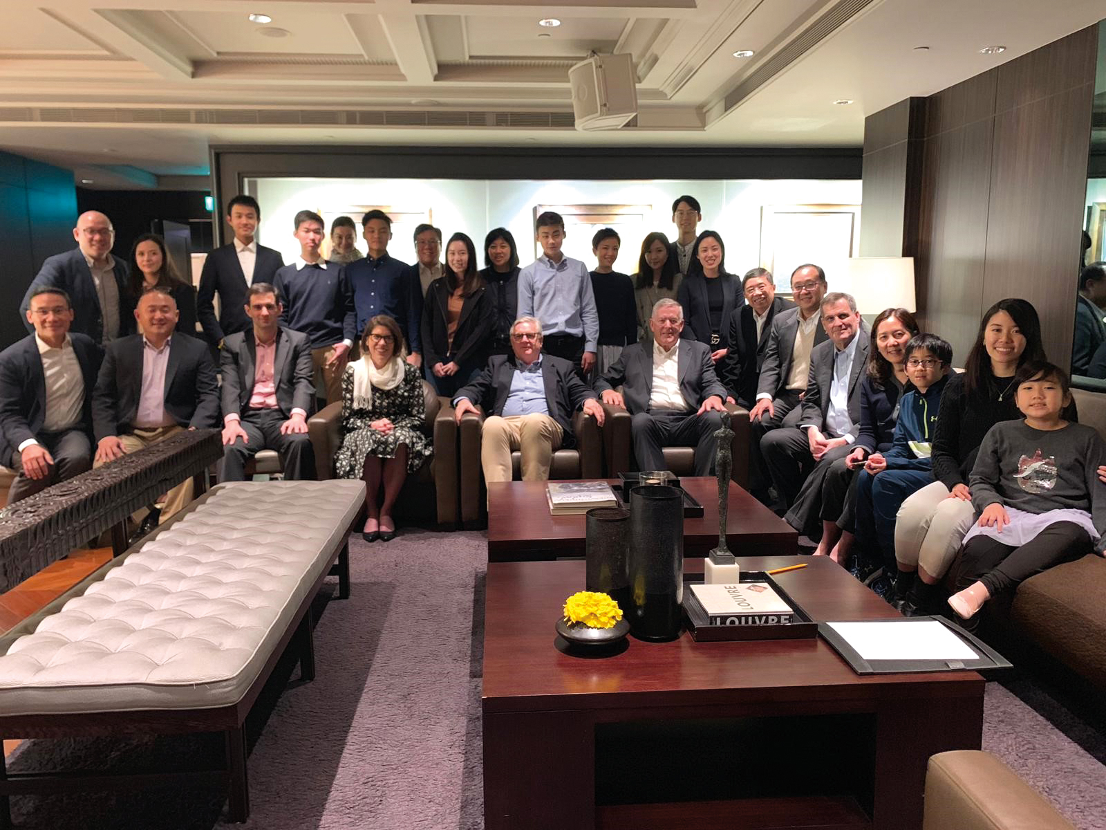 Taipei City  A large group, hosted by Janie Hou '82, P'18, welcomed Interim Rector Amy Richards, Board of Trustees President Archie Cox '58, and Chief Advancement Officer Bill Kissick P'12.