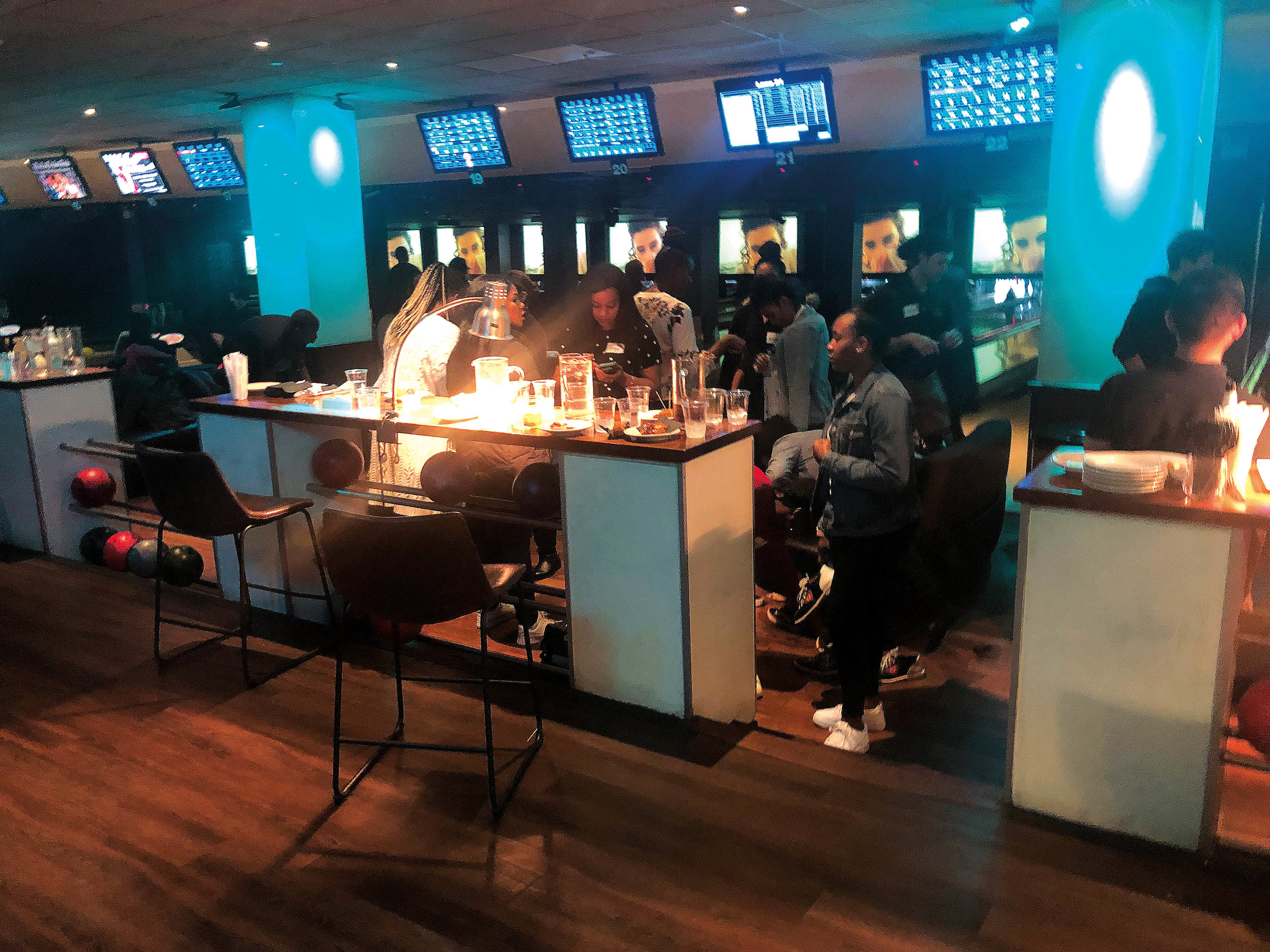 Attendees enjoyed billiards, bowling, food, and more in New York City.