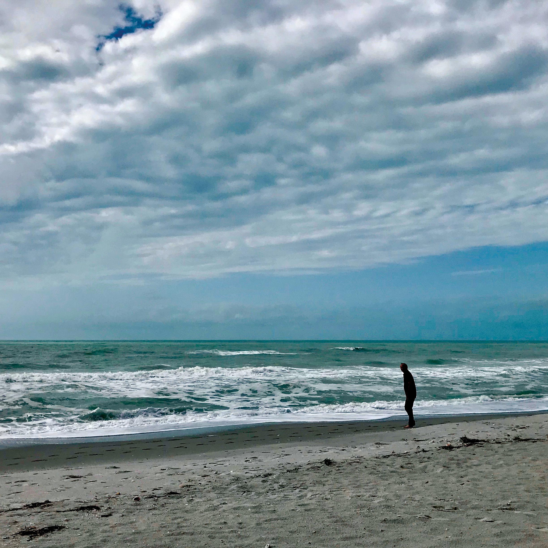 Charlie Bronson '72 enjoying a cloudy beach day in Florida.