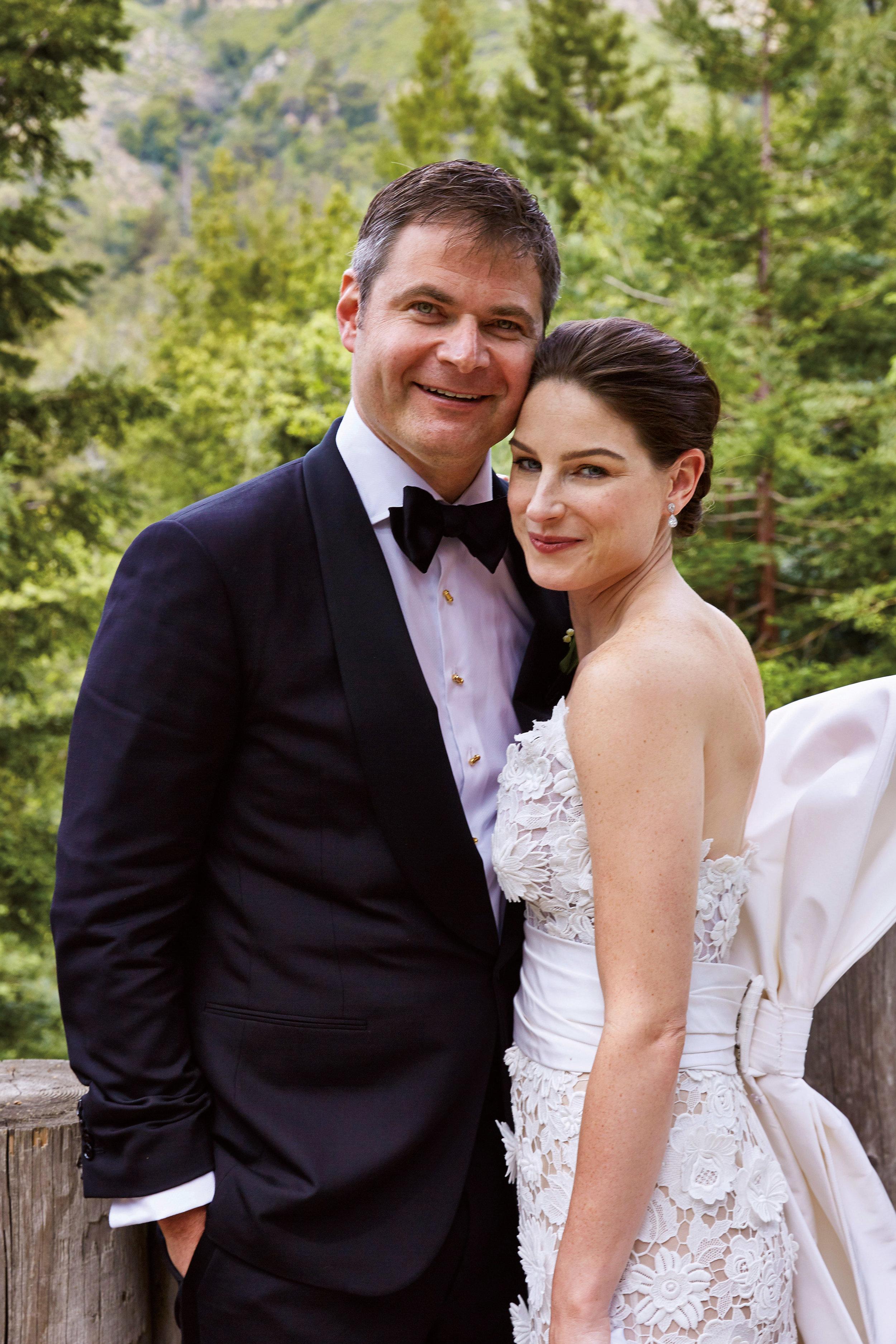 Kathryn Duryea '00 with her husband, Matt Wyndowe.