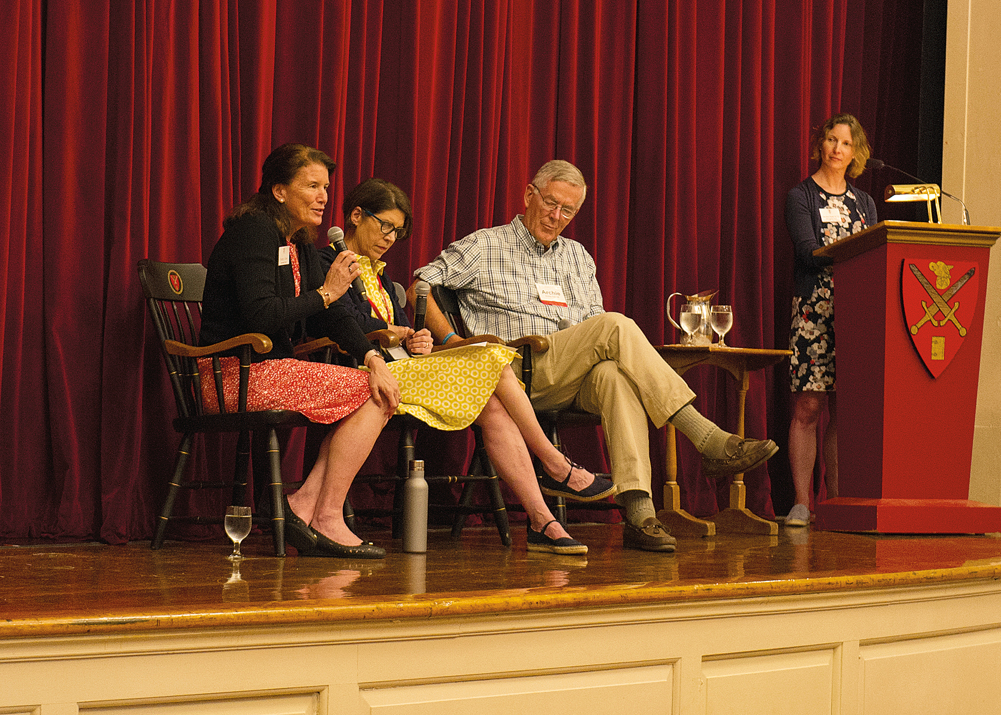 New Rector Kathy Giles, Interim Rector Amy Richards, Board President Archie Cox '58, and Chief Engagement Officer Alisa Barnard '94.