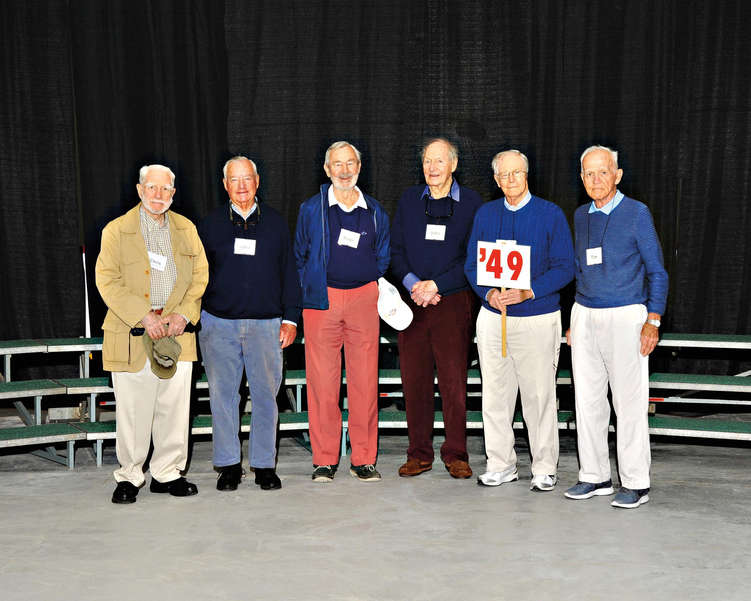 (L. to r.): Chris Beels, John Scully, Peter Van Doren, John Wagley, Sam Cooley, and Tim Colt.