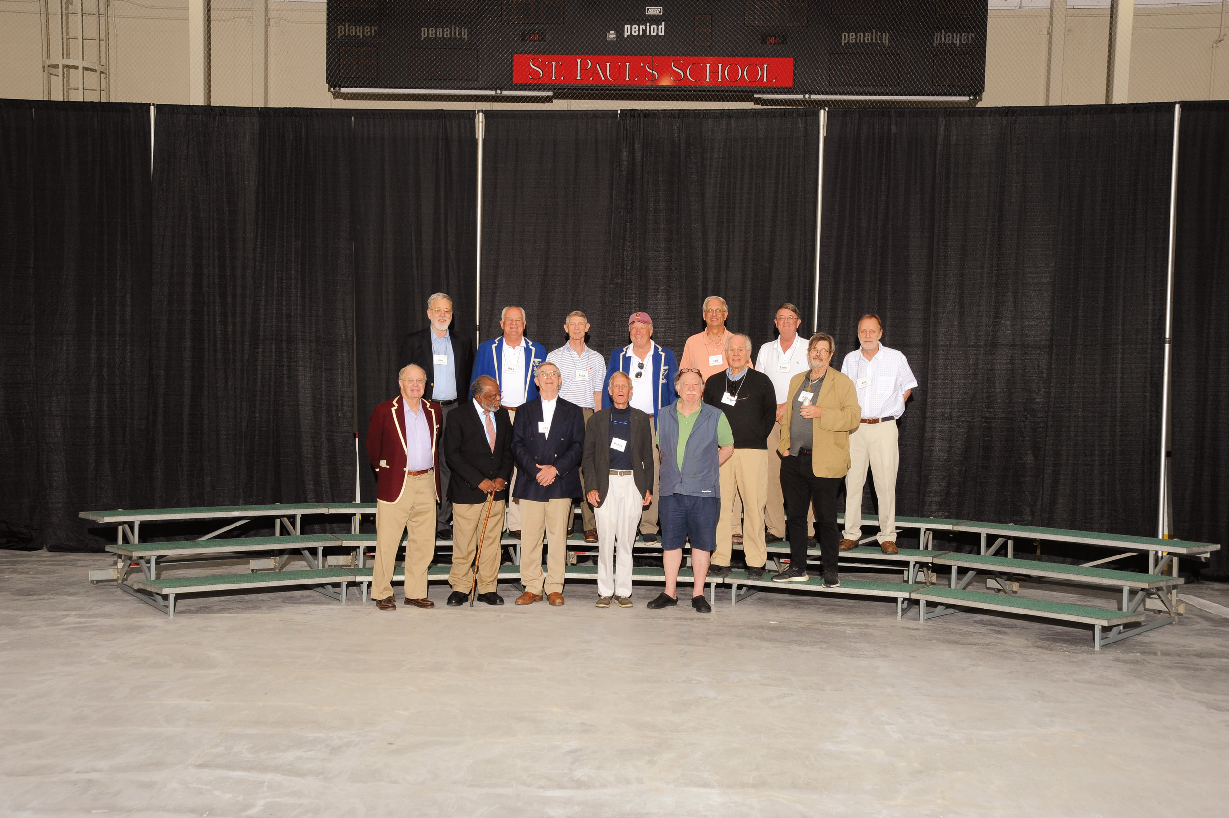 (L. to r.) row 1: Peter Gerry, Ted Landsmark, Jos Wiley, Rufus Botzow, Jim Cummins, Rob Claflin, Alex Shoumatoff; row 2: Jim Goodwin, Mike Howard, Fred Morris, Rick Sperry, Jad Roberts, Terry Lichty, and Jim Schutze.