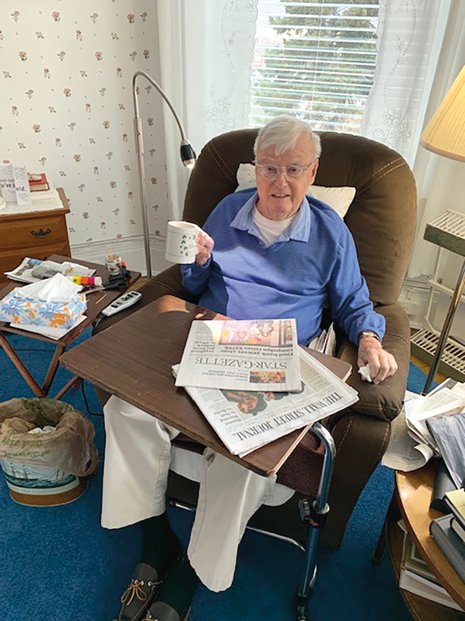 Amo Houghton '45 sends his love from his residence in Corning, N.Y.