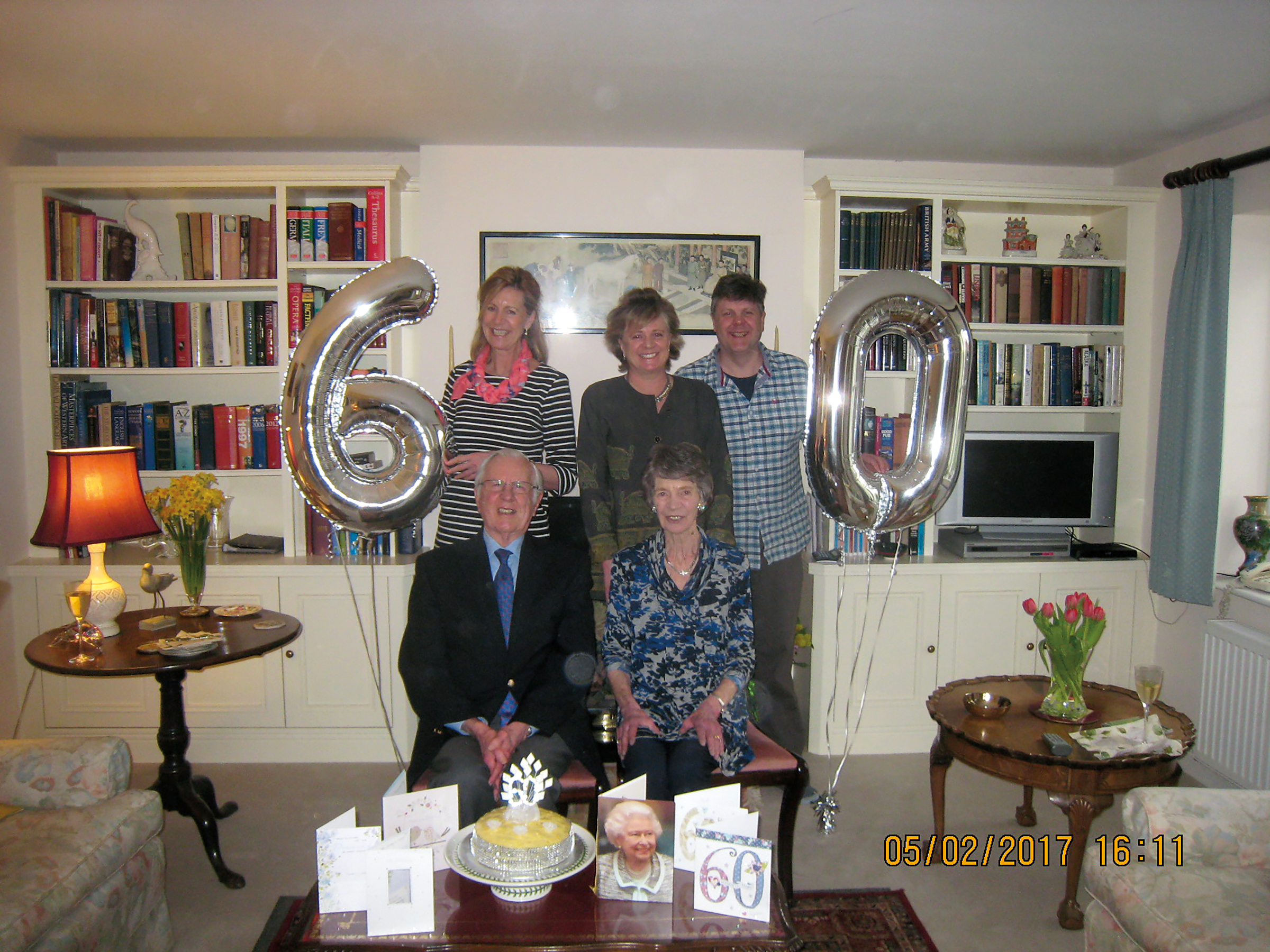 James Stockley '46 celebrated his 60th wedding anniversary with his wife, Pearl, and children, Philippa, Amanda, and Robin.