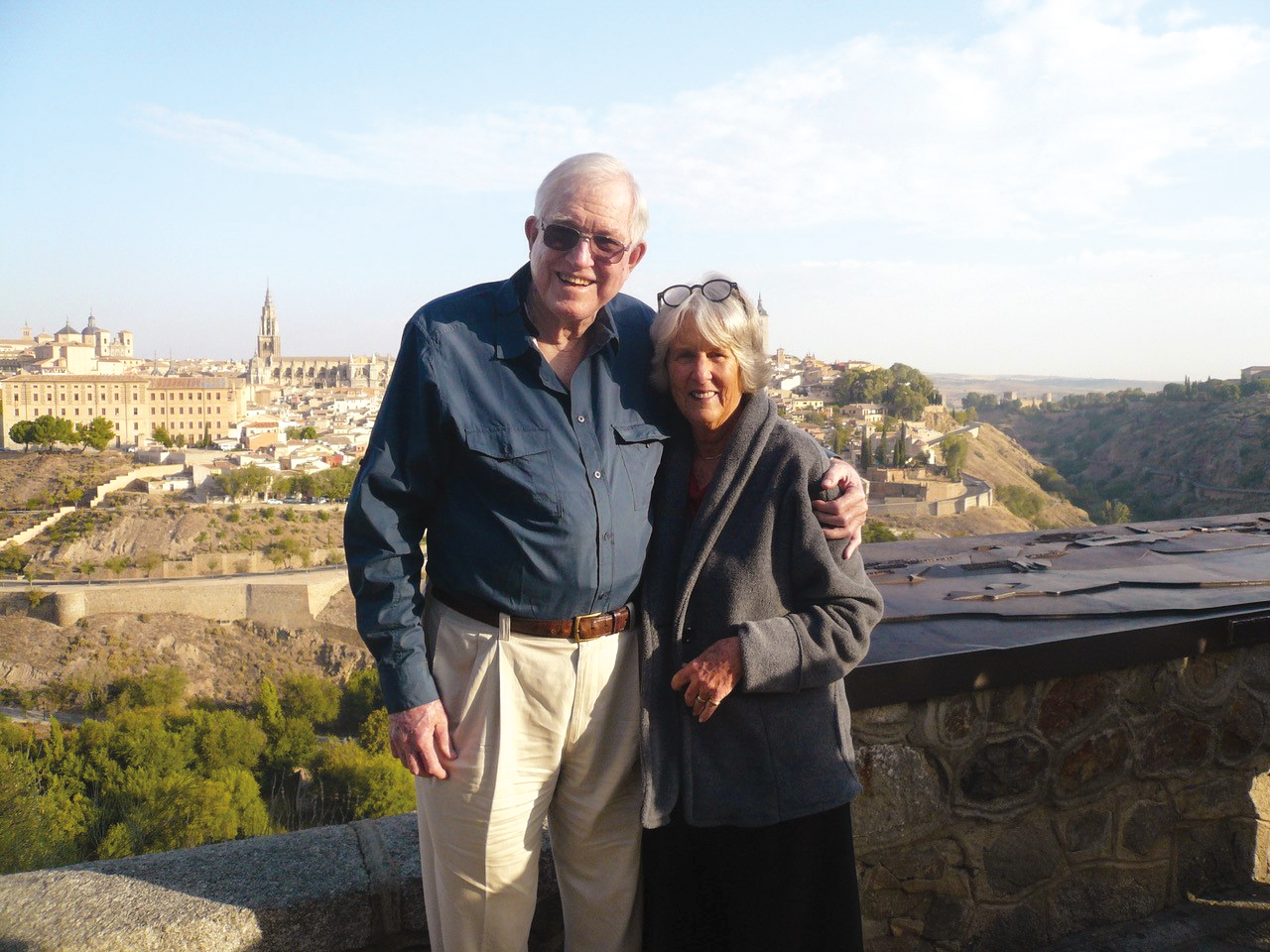 Nick Ludington '52 and his wife, Cassandra, in Toledo, Spain.