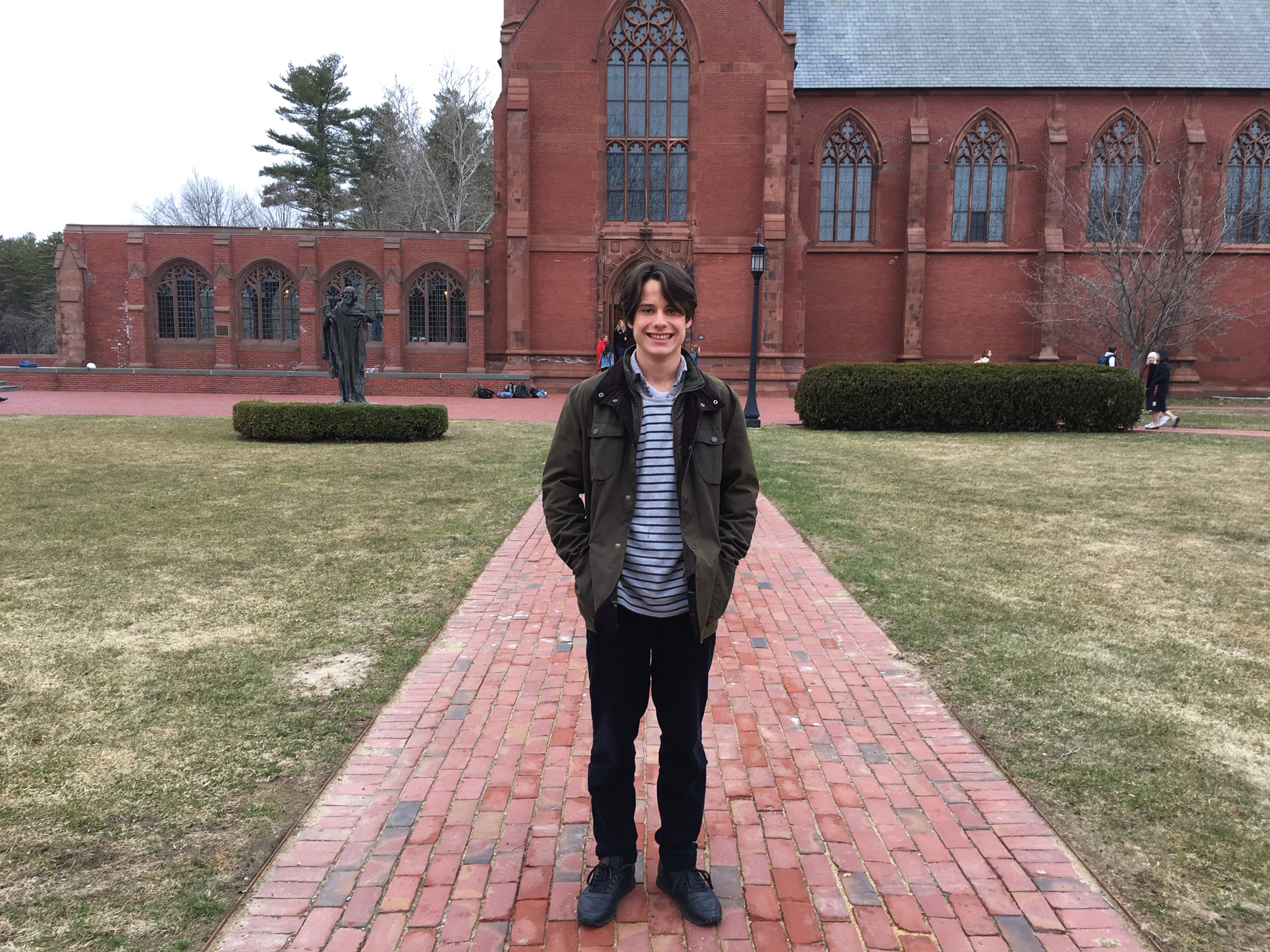 Maxwell Benster, grandson of Philip Price '52, studied at SPS this spring as part of an exchange program with Eton College.