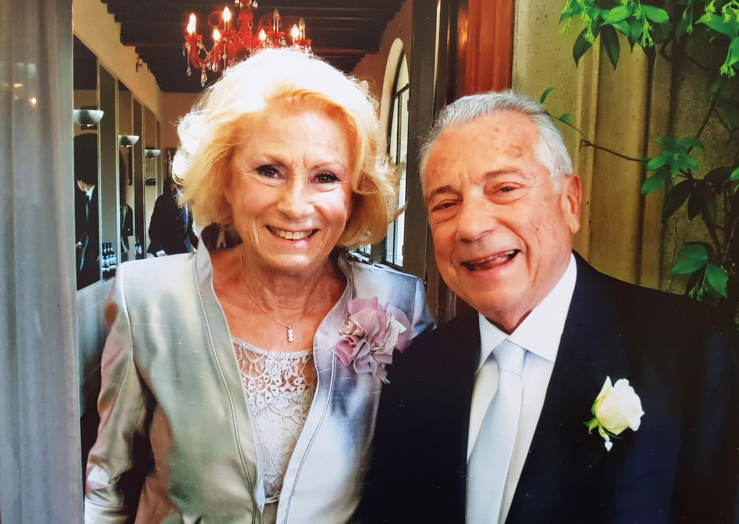 Carlo Alberto La Chiusa '55 and Maria Grazia on their wedding day.