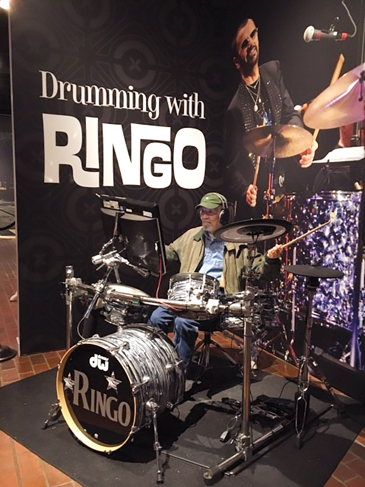 Yoshi Shimizu '55 channeling Ringo Starr at the Oregon Historical Society.