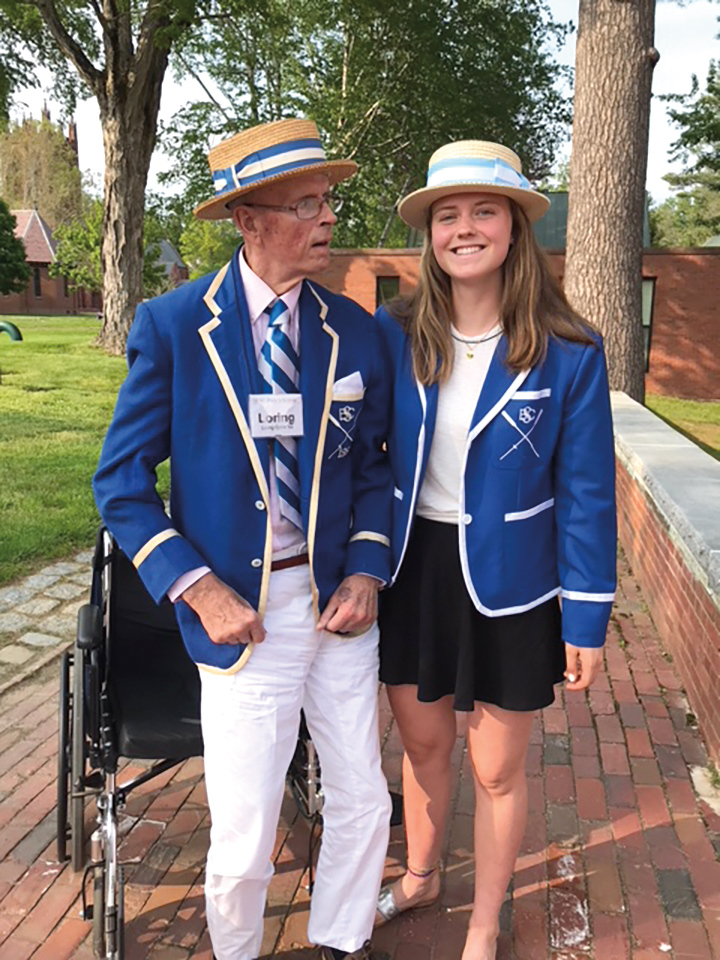 Loring Caitlin '59 with his granddaughter, Elo '19, at Anniversary Weekend 2019.