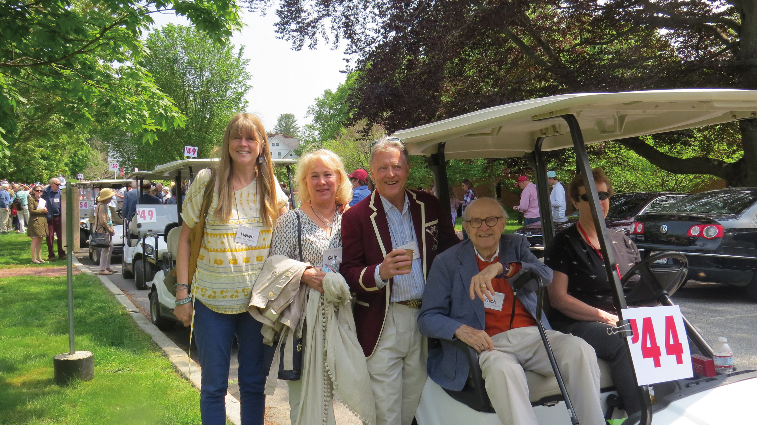 (L. to r.) Helen Bouscaren '75, Gale Hunt, Terry Hunt '69, and Richard Hunt '44.