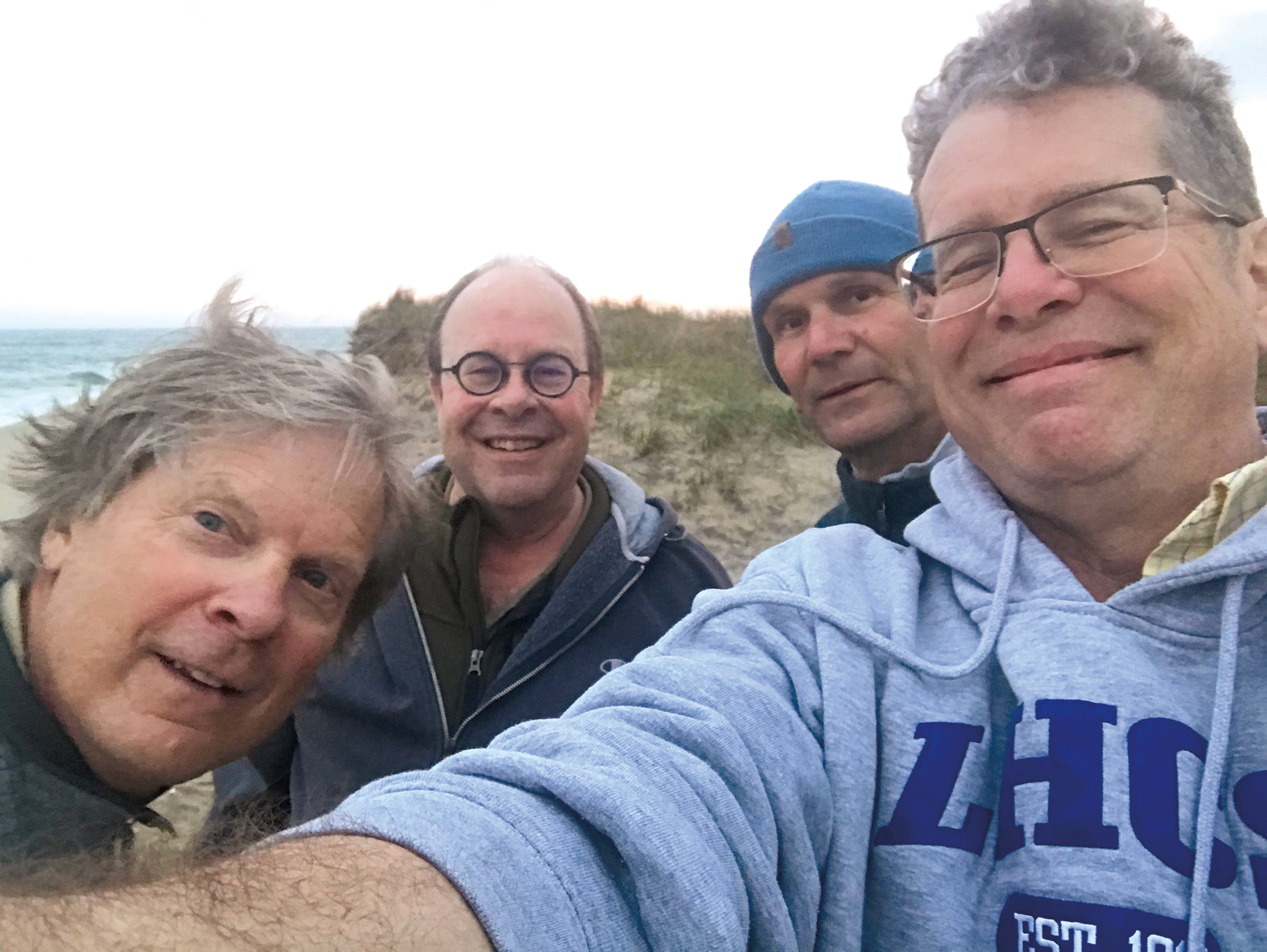 In May, Bill Newlin '75, David Moffat '75, and Gregg Townsend '75 gathered for a weekend at the home of Steve Turner '75.