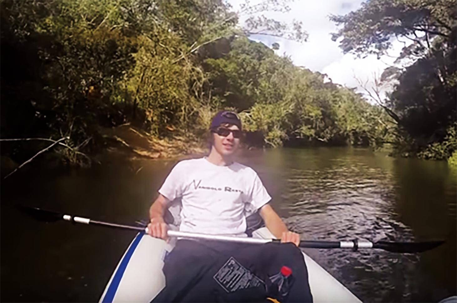 Trey Murphy '13 leading a kayak tour in Ranomafana National Park, Madagascar.