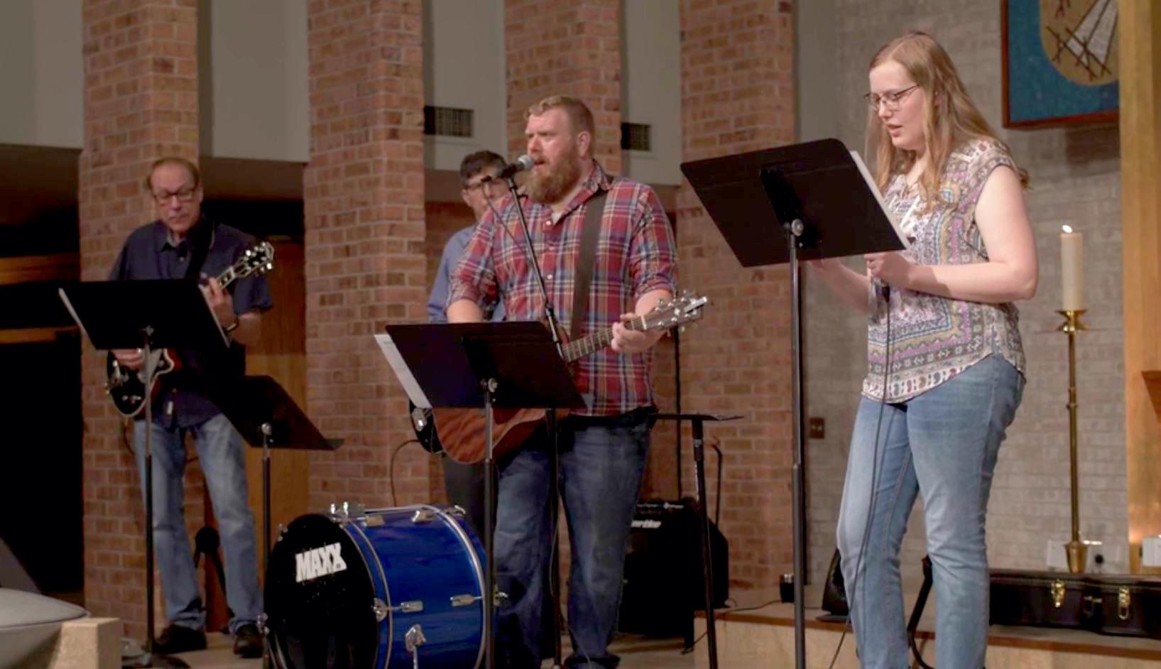 The Praise Band at First Presbyterian Church, Sioux Falls.