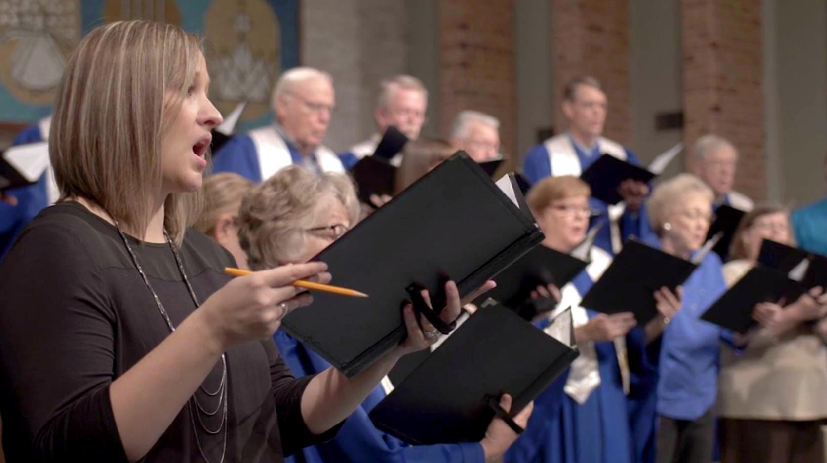 The Sanctuary Choir performs at First Presbyterian Church, Sioux Falls.