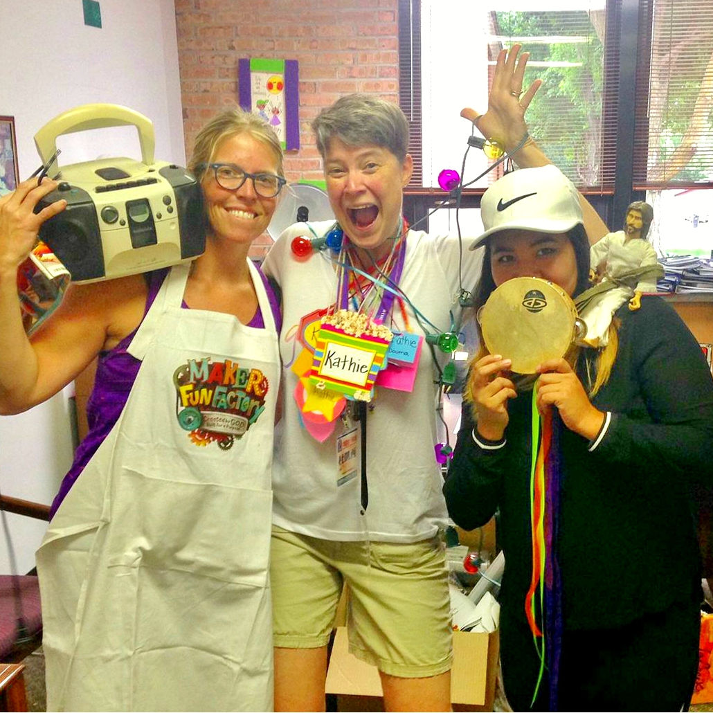 The children's ministry team at First Presbyterian Church, Sioux Falls, preparing for a summer of fun activities with the kids.