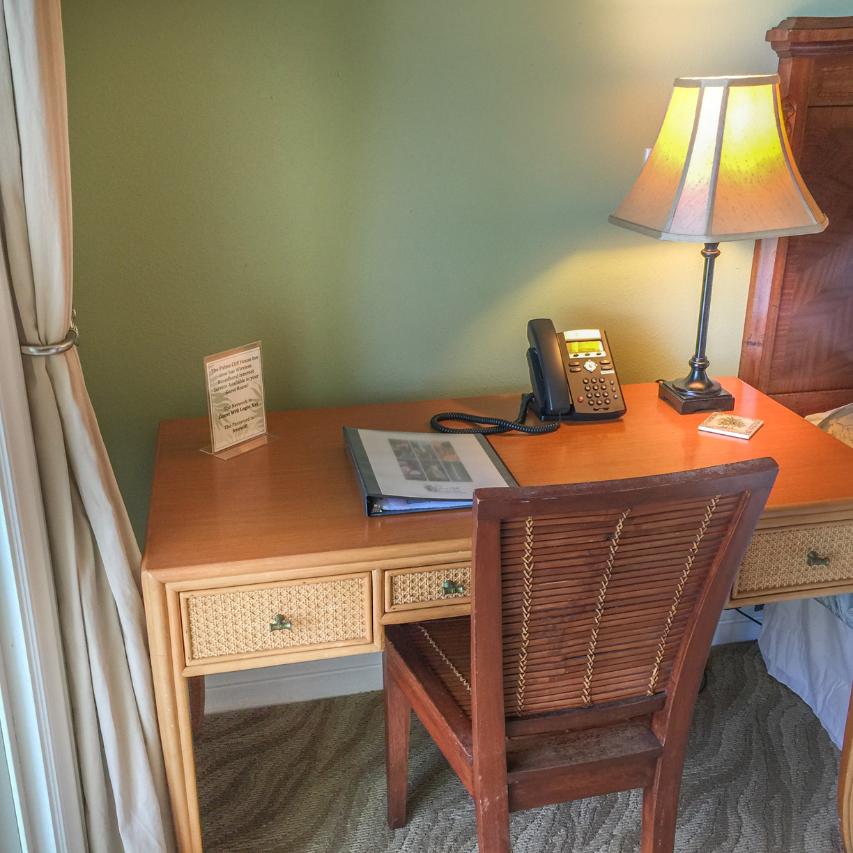 Have to work while on vacation? our desks are situated so that you can look out at the ocean and enjoy the view.