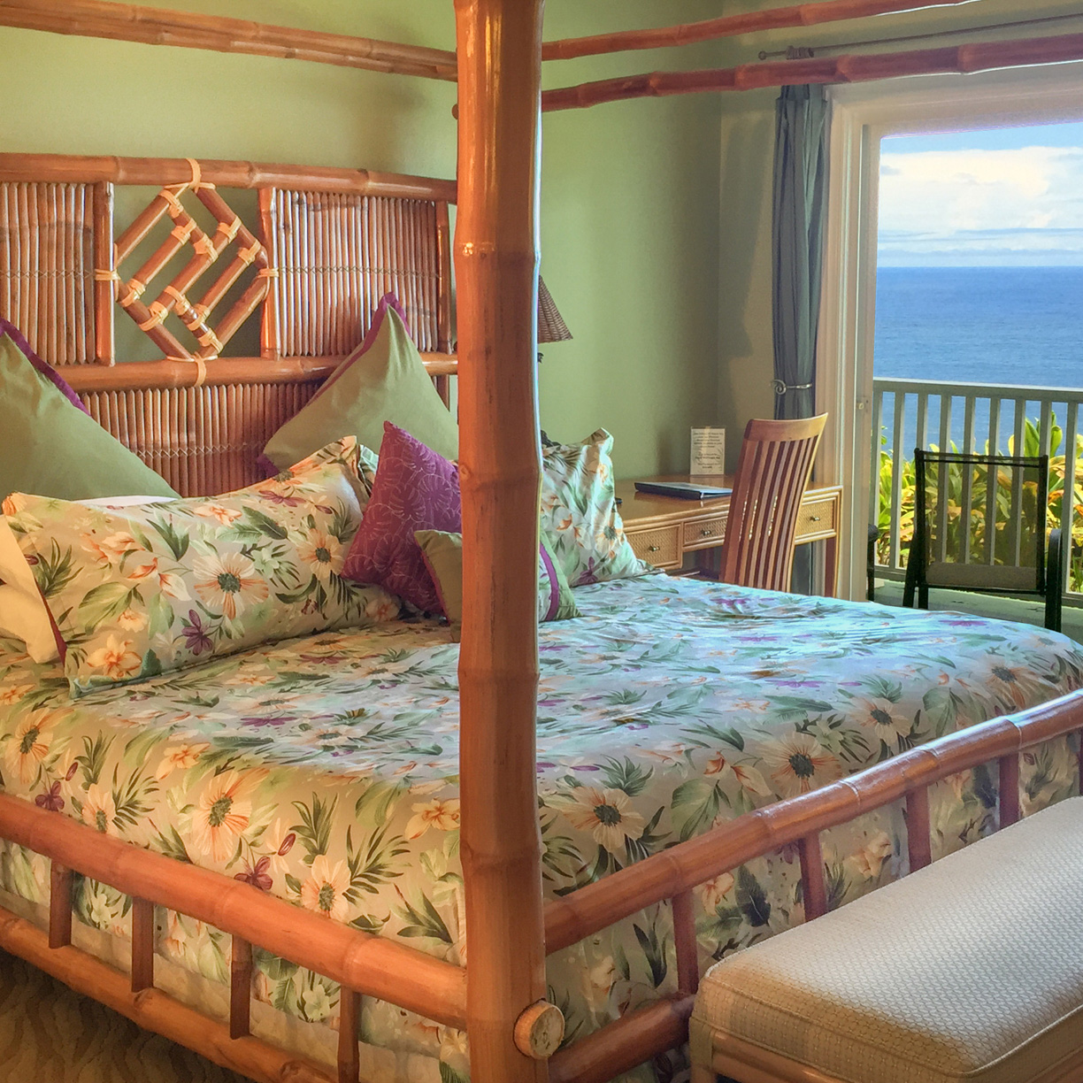Enjoy the ocean view from your bed at the palms cliff house inn.