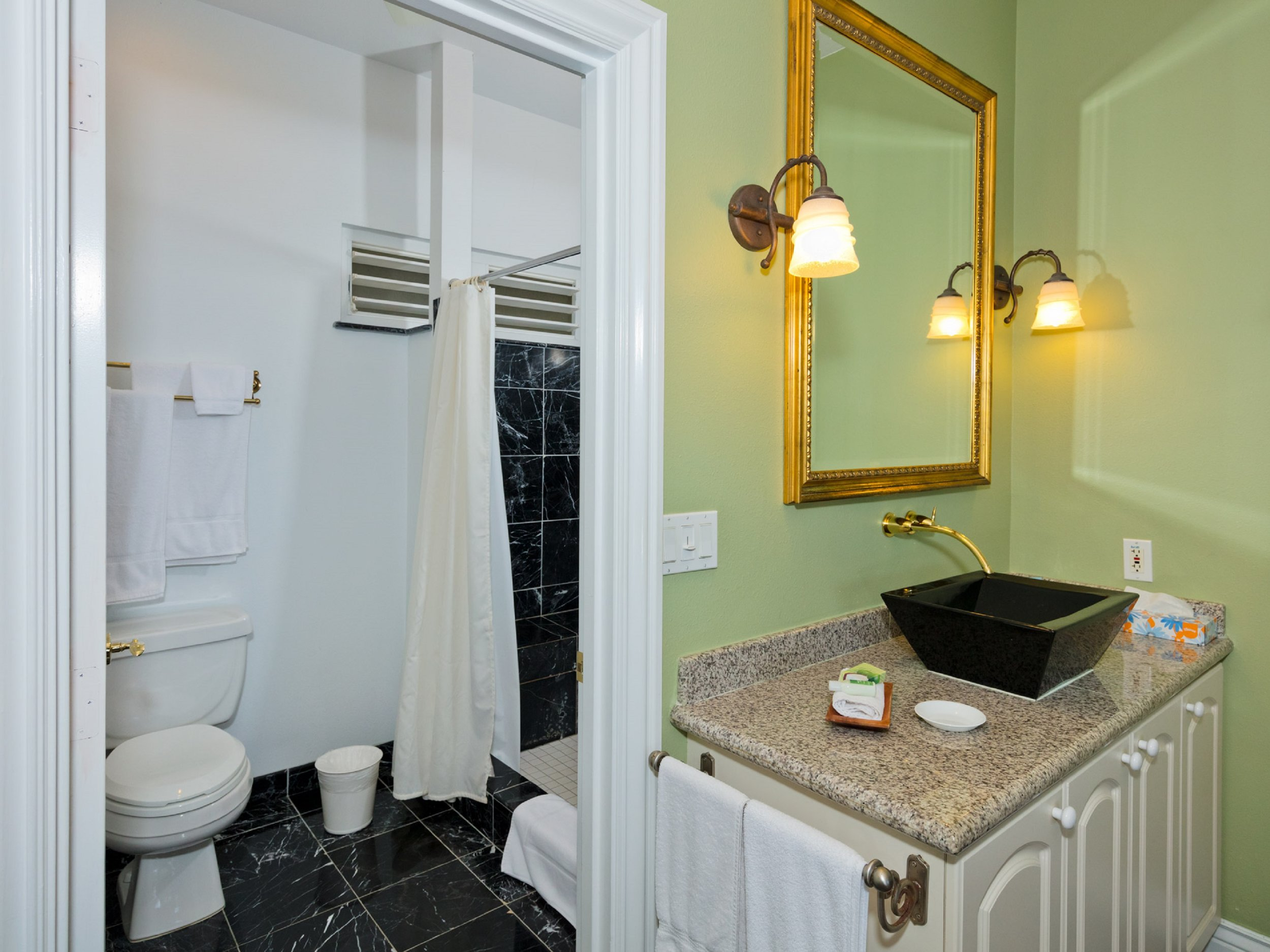 Enjoy a private bathroom in your room unlike typical bed & breakfasts