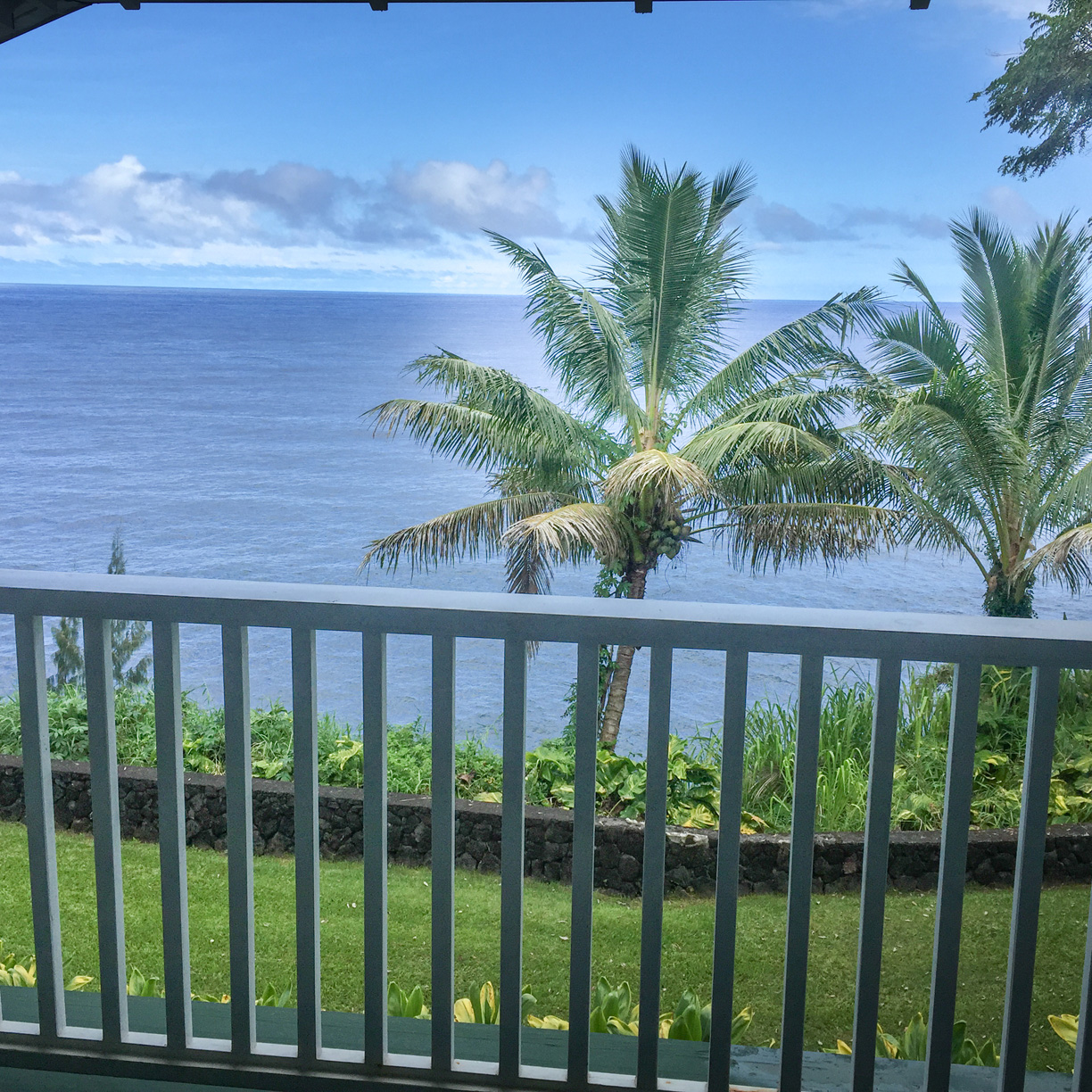 Idyllic Romantic setting with ocean view great for watching the sunrise with your loved one.