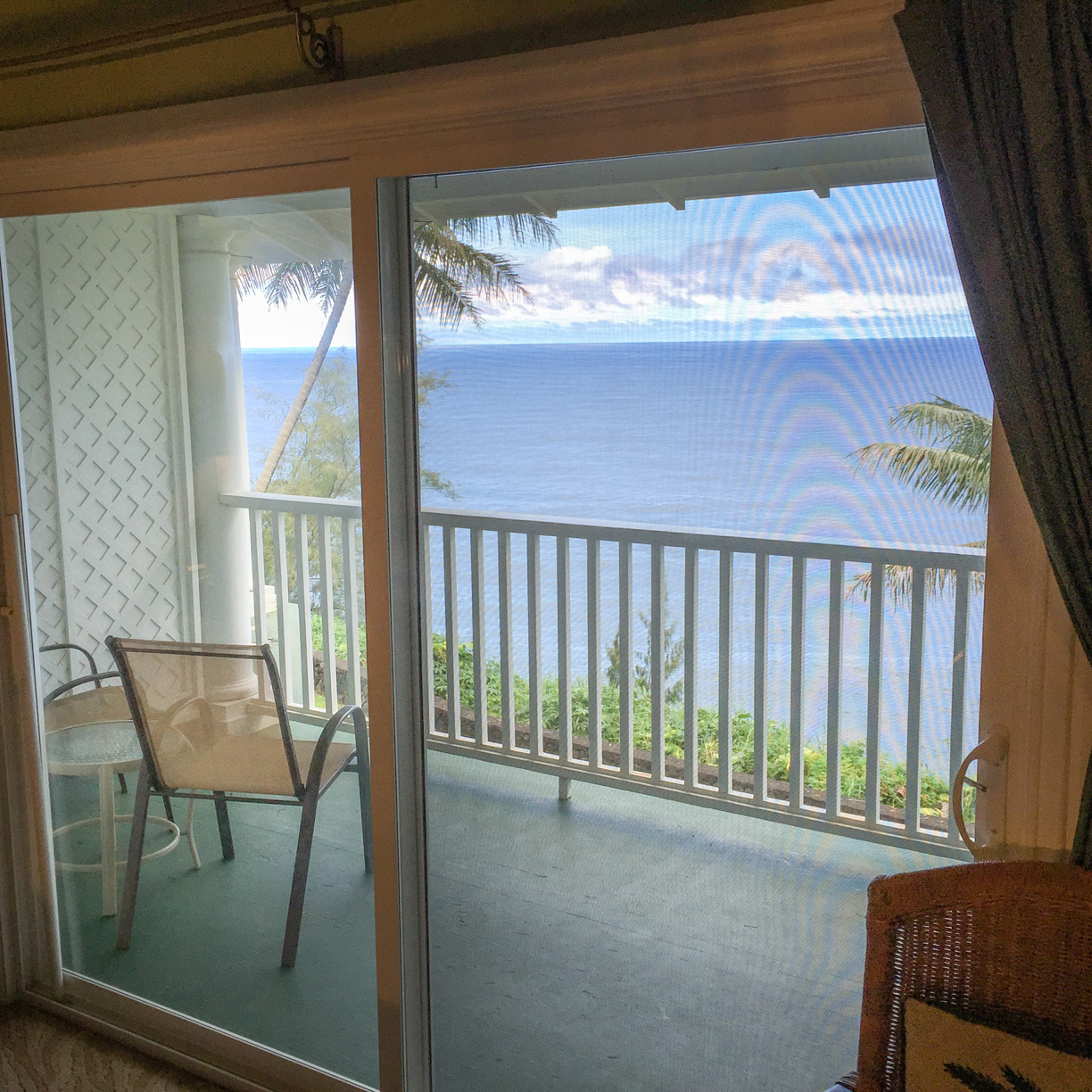 Watch the whales and dolphins right from your bed here at The Palms Cliff House Inn