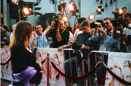 On the red carpet for the premiere at Grauman's Chinese Theatre.