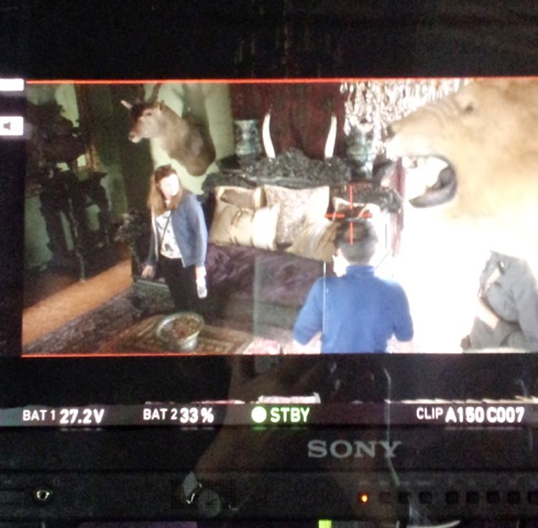 Readying the confrontation scene between Josie and Pen at Meredith's.
