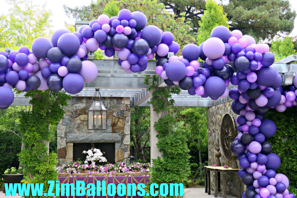 Trellis Purple Balloon Garland San Francisco Bay - Zim Balloons.jpg