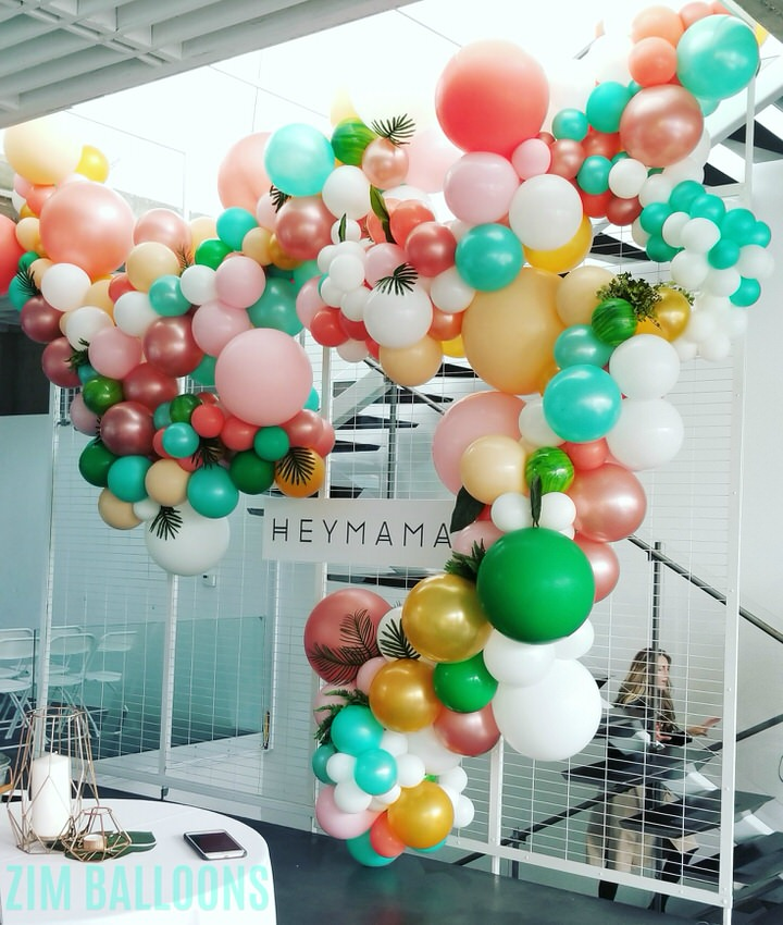 Hey Mama Co Party Balloon Installation - Fern Balloon Garland Decor San Francisco - SF - Zim Balloons.jpg