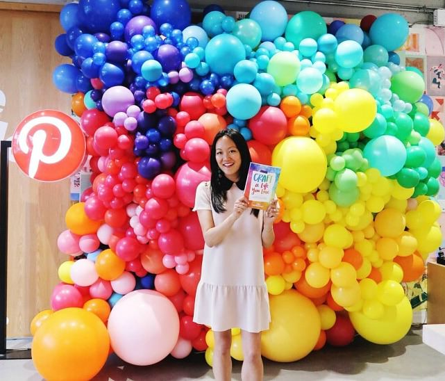 Pinterest - Balloon Wall Rainbow Ombre -Amy Tangerine - Organic balloon delivery SF - Zim Balloons.jpg