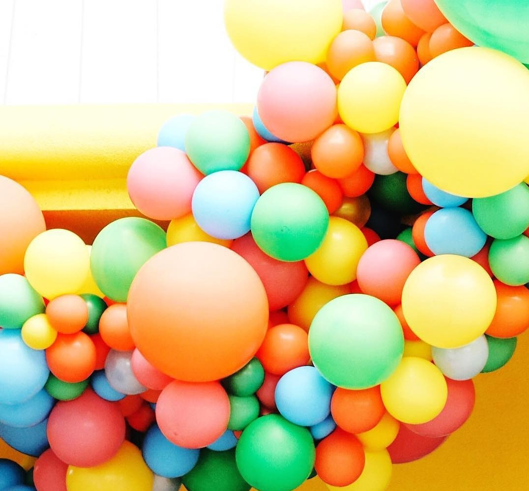 Close Up Of Organic Balloon Garland Texture - AKA - Geronimo Style -.jpg