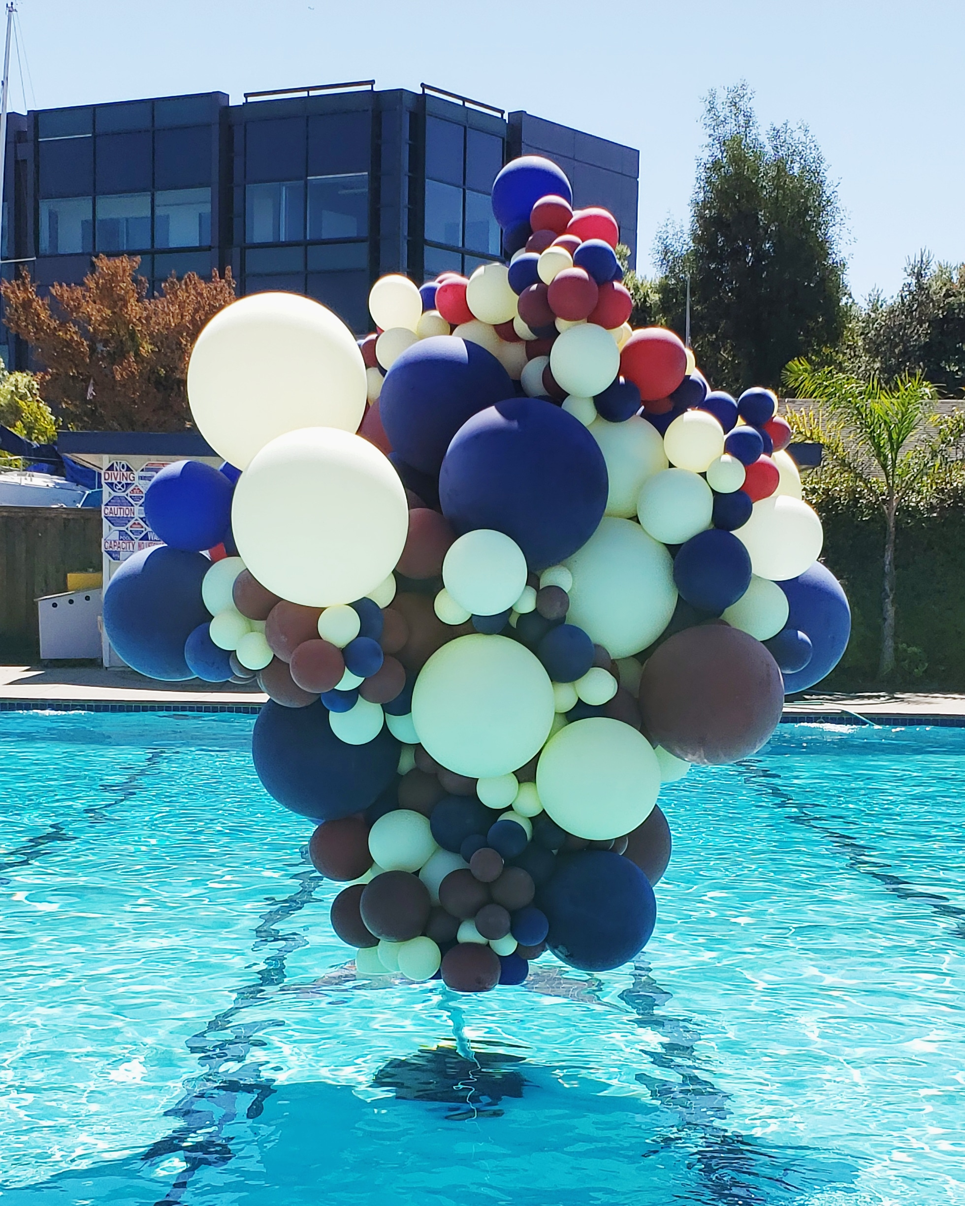 Unique Balloon Installation - Balloons Out Pool Water - Zim Balloons.jpg