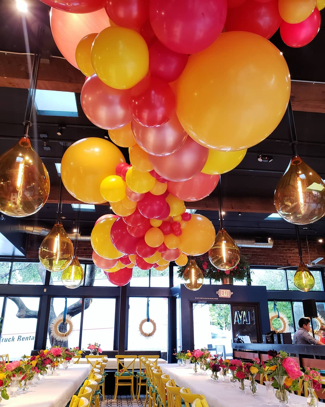 Mill Valley Party Balloons - Balloon Cloud Ceiling  Garland - Zim Balloons.jpg