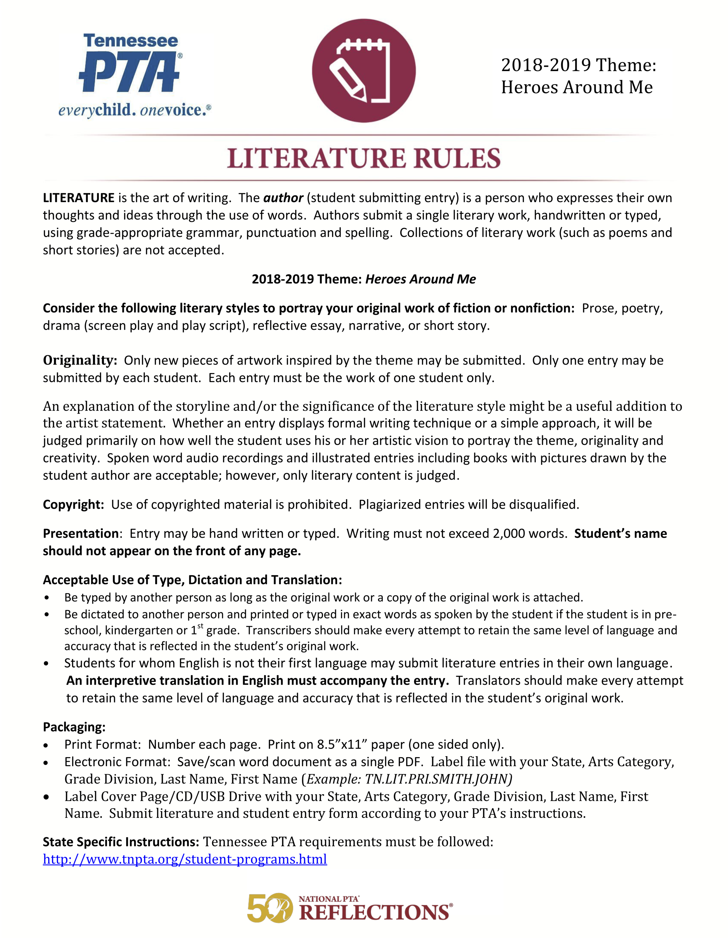 18-19 Reflections Literature Rules.png