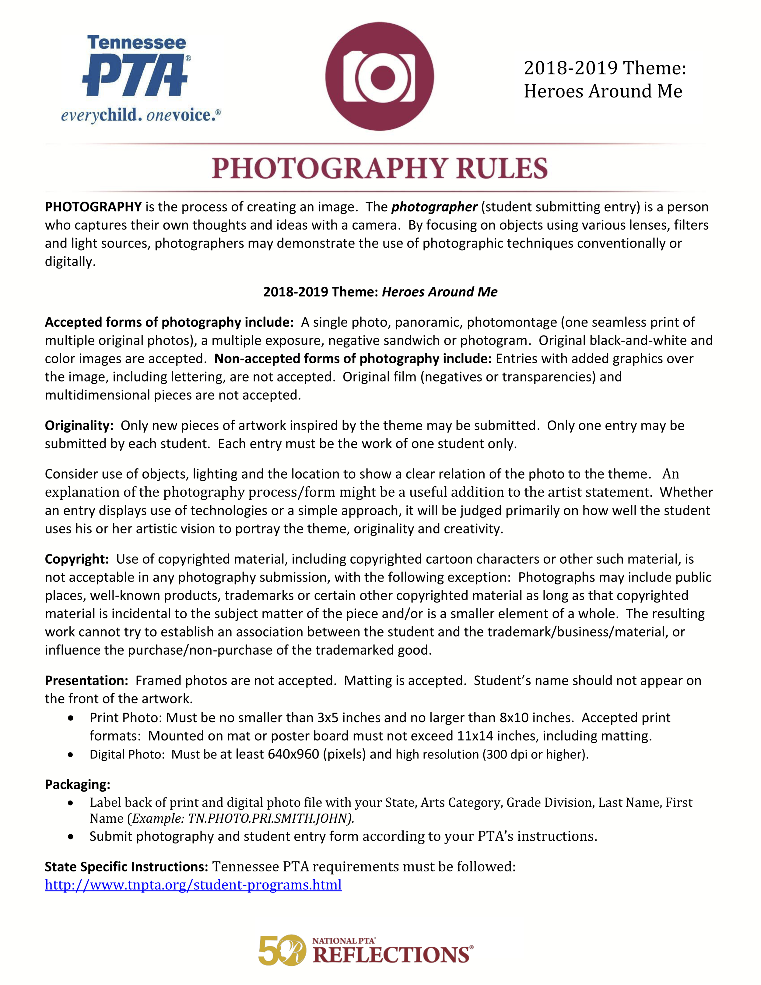18-19 Reflections Photography Rules.png
