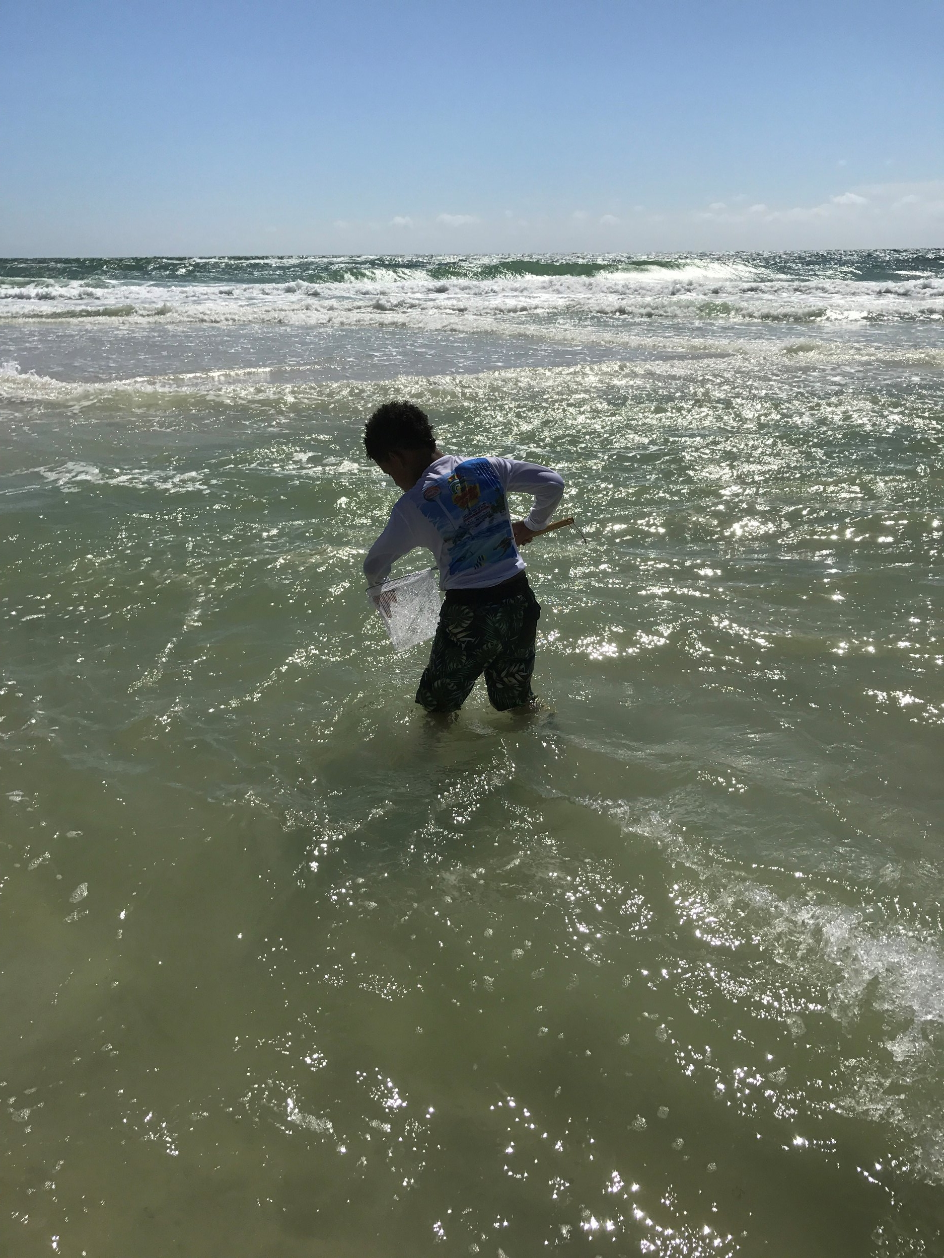 You can find nets at most shops on the beach for really inexpensive. I'm talking $5 or less. My son had the best time catching (and releasing, don't come after me PETA) little fish on the beach!
