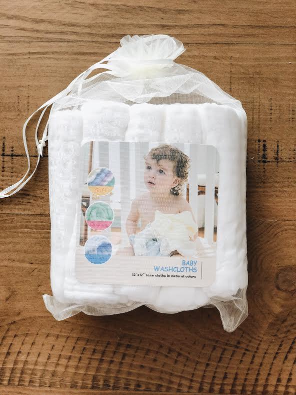 muslin wash cloths baby shower gift