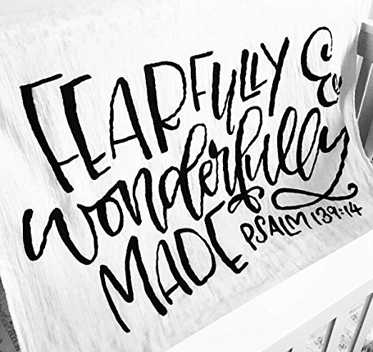Fearfully and Wonderfully made swaddle